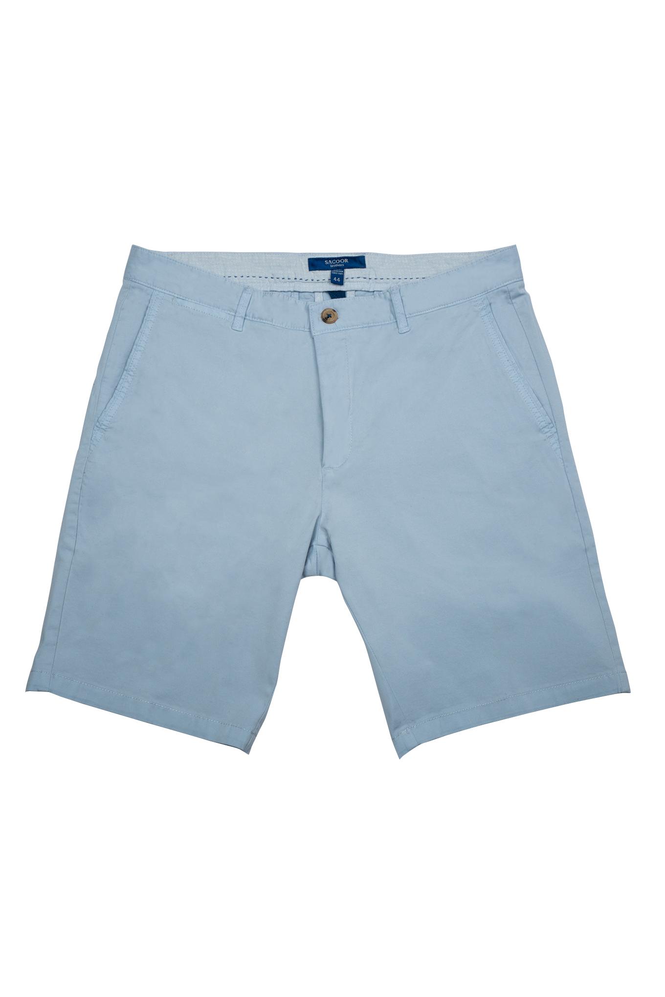 Bermuda Azul Claro Casual Homem