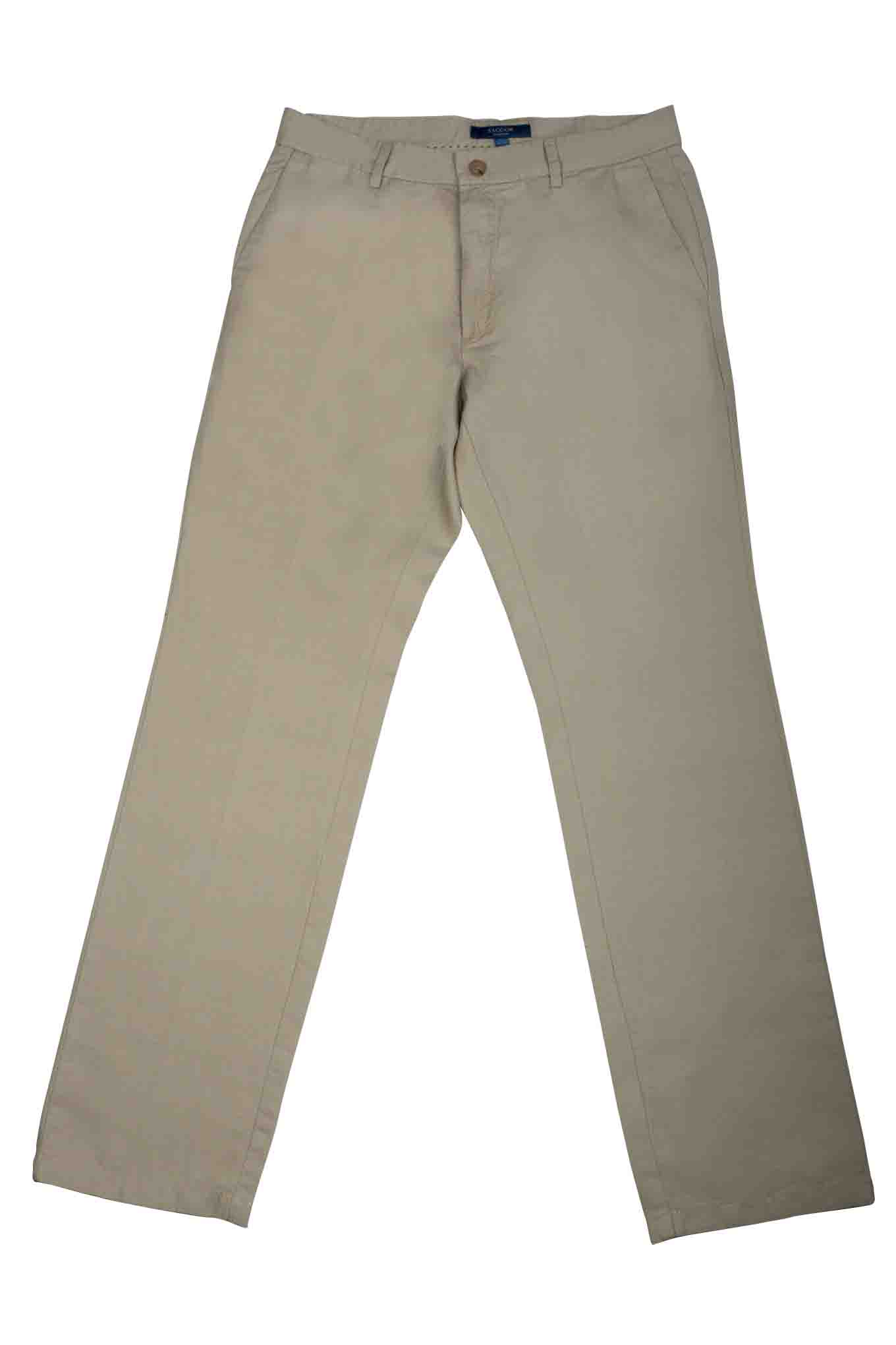 Chino Trousers Light Beige Casual Man