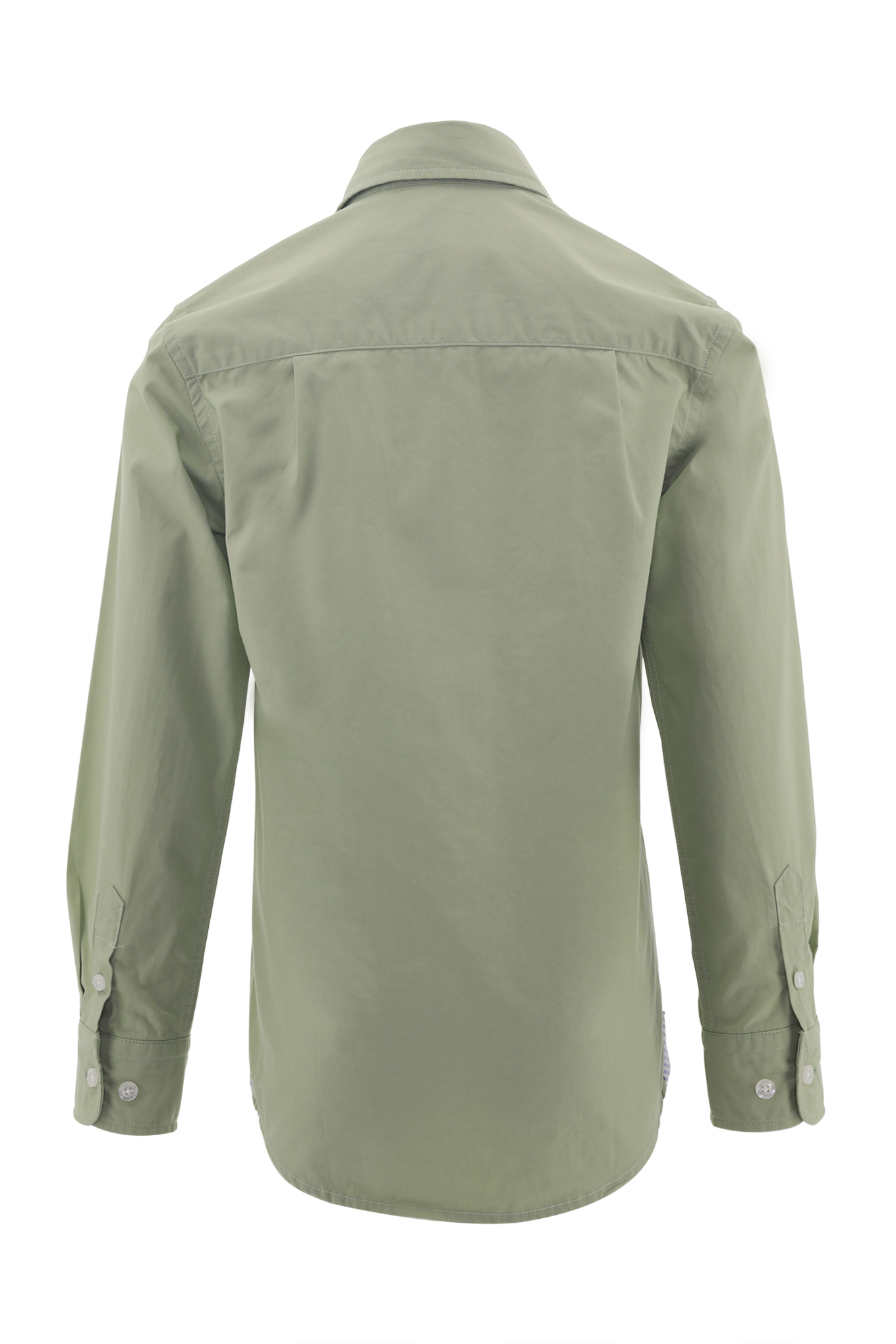 Shirt Light Green Casual Boy