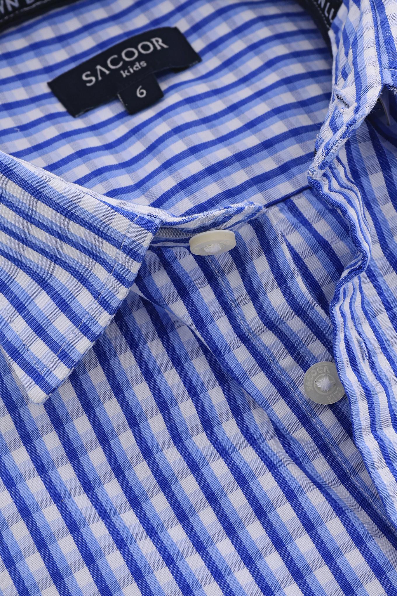 Camisa Azul Claro Casual Rapaz