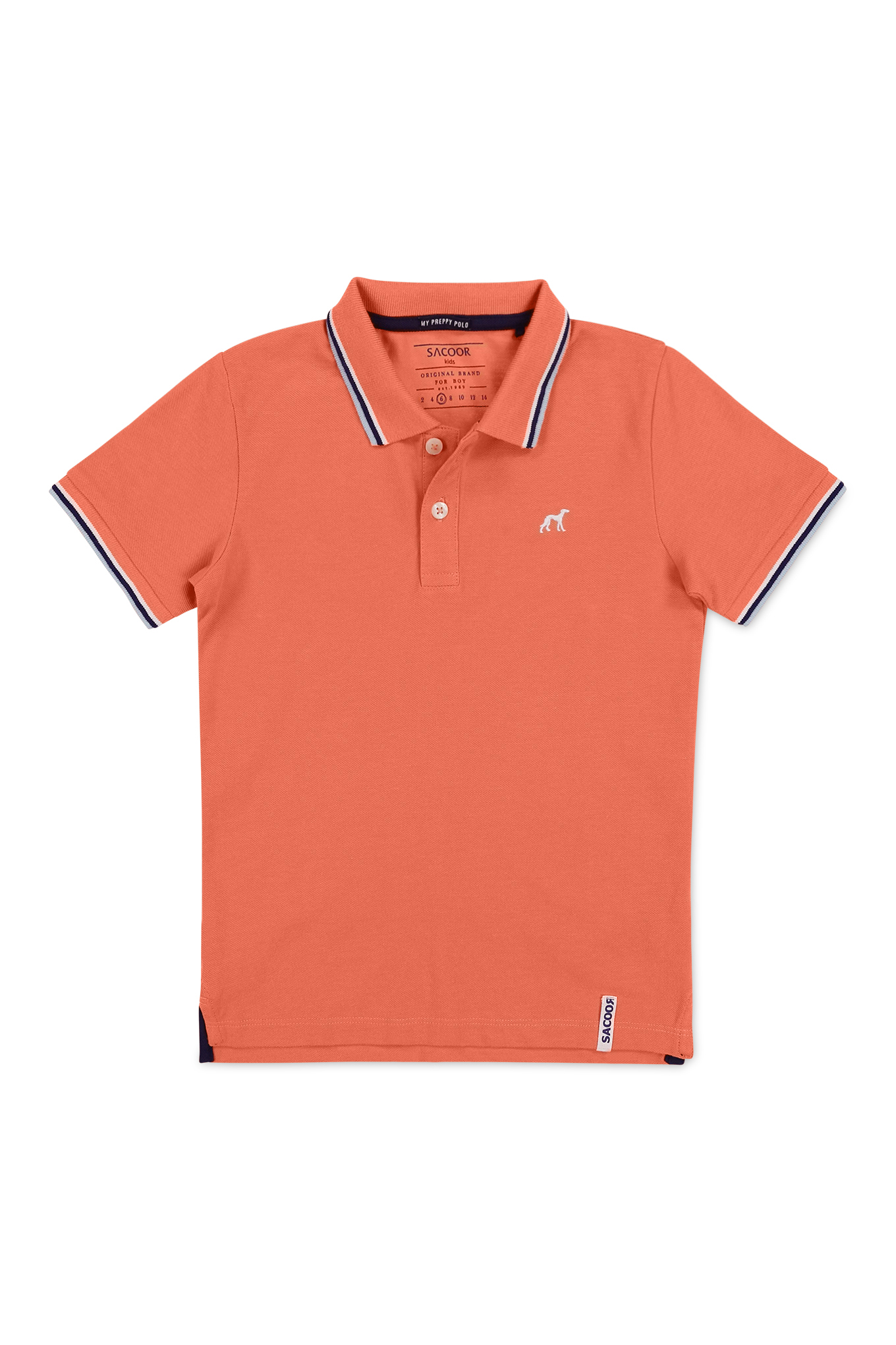 Polo Piquet Orange Sport Boy