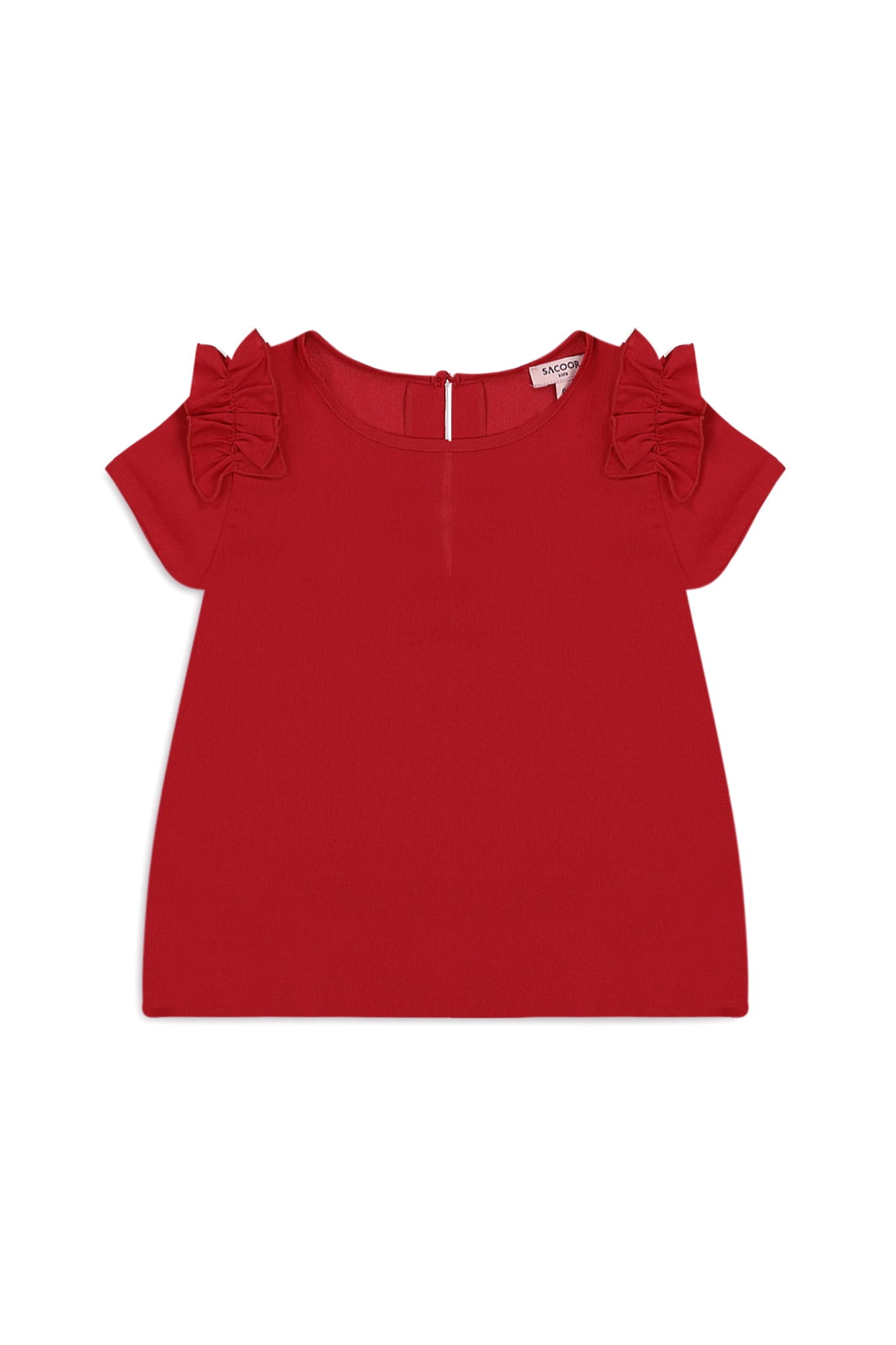 Blouse Red Casual Girl