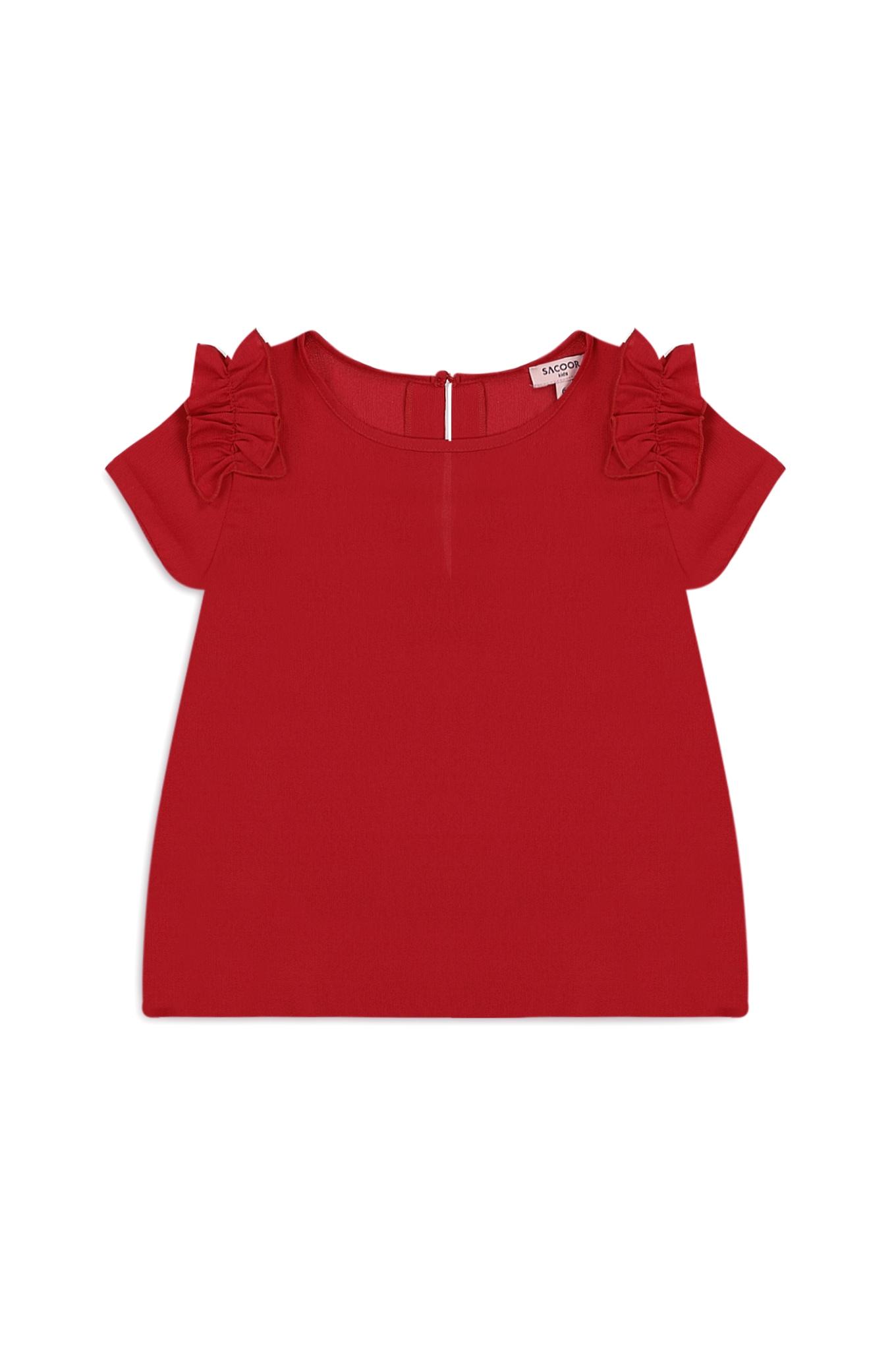 Blusa Vermelho Casual Rapariga