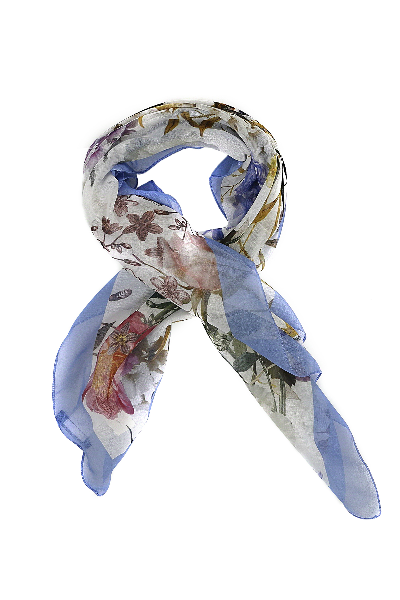 Scarf Blue Casual Woman