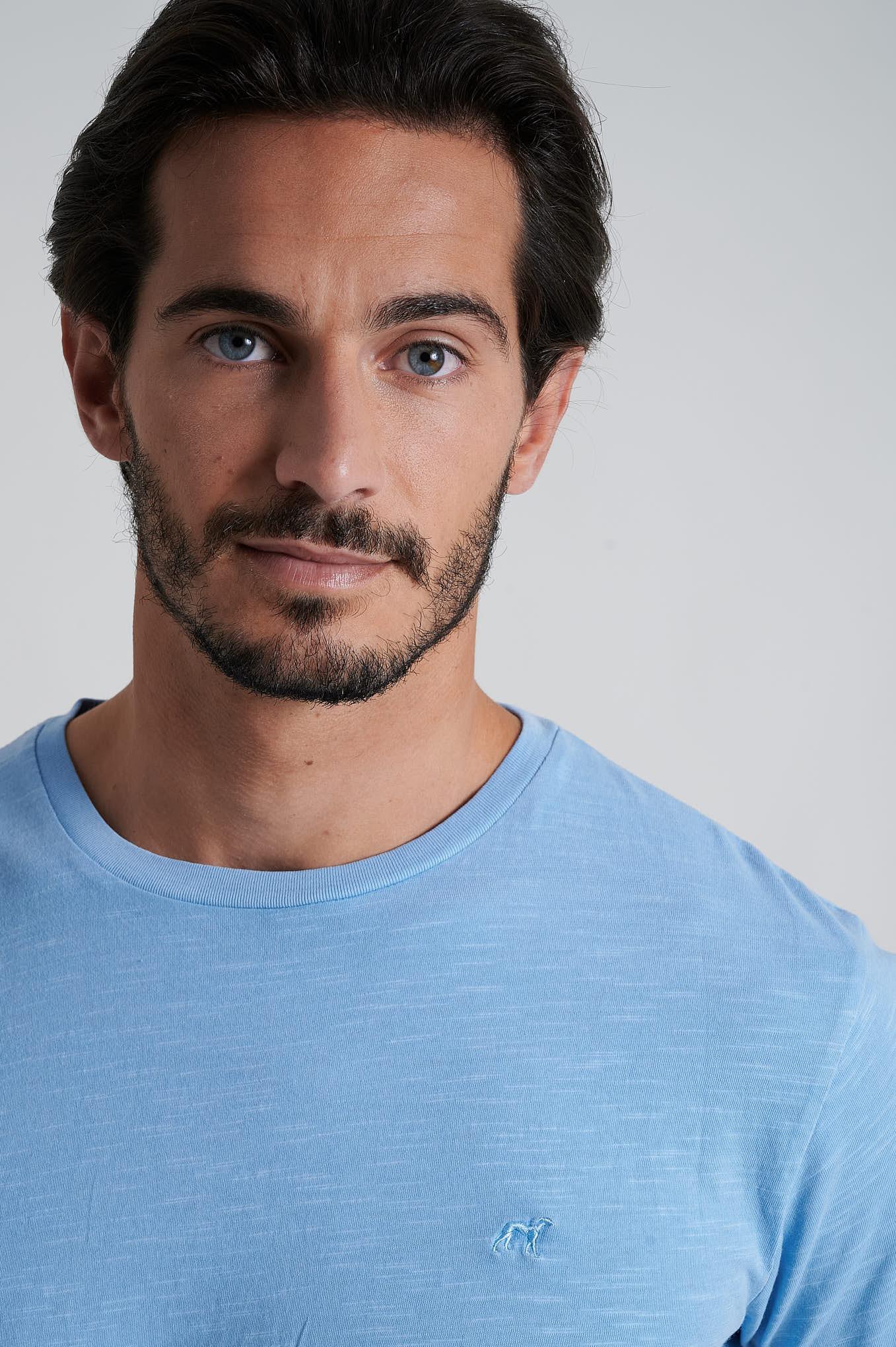 T-Shirt Light Blue Sport Man