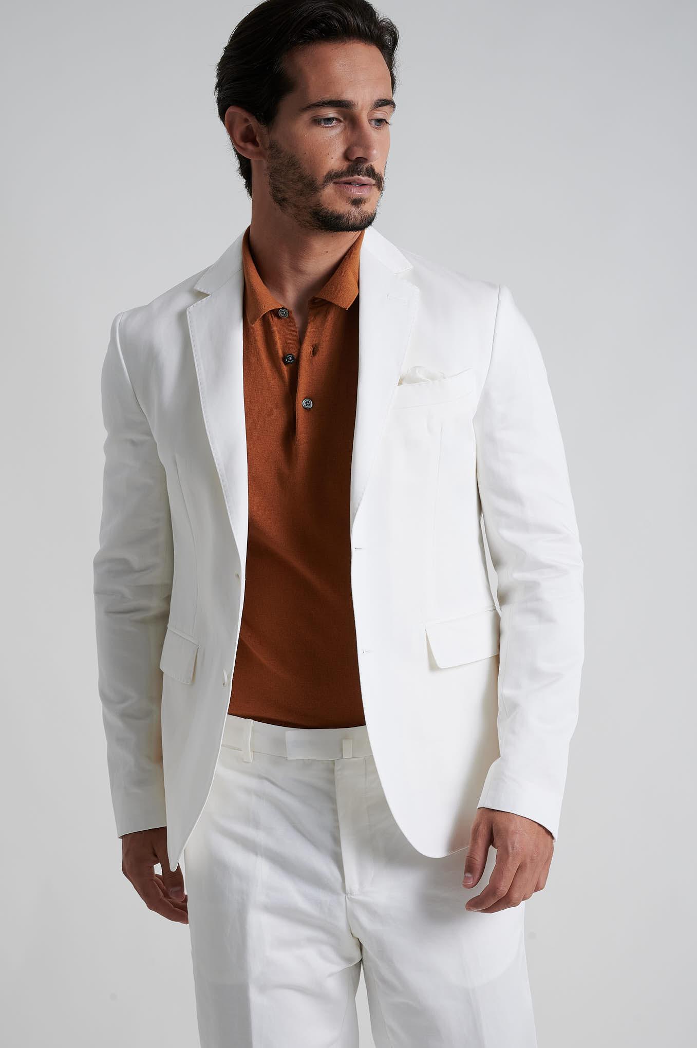 Blazer White Formal Man
