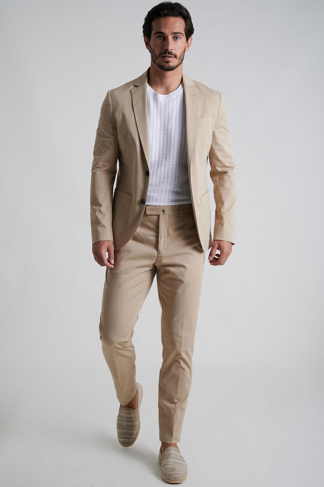 Suit Beige Formal Man
