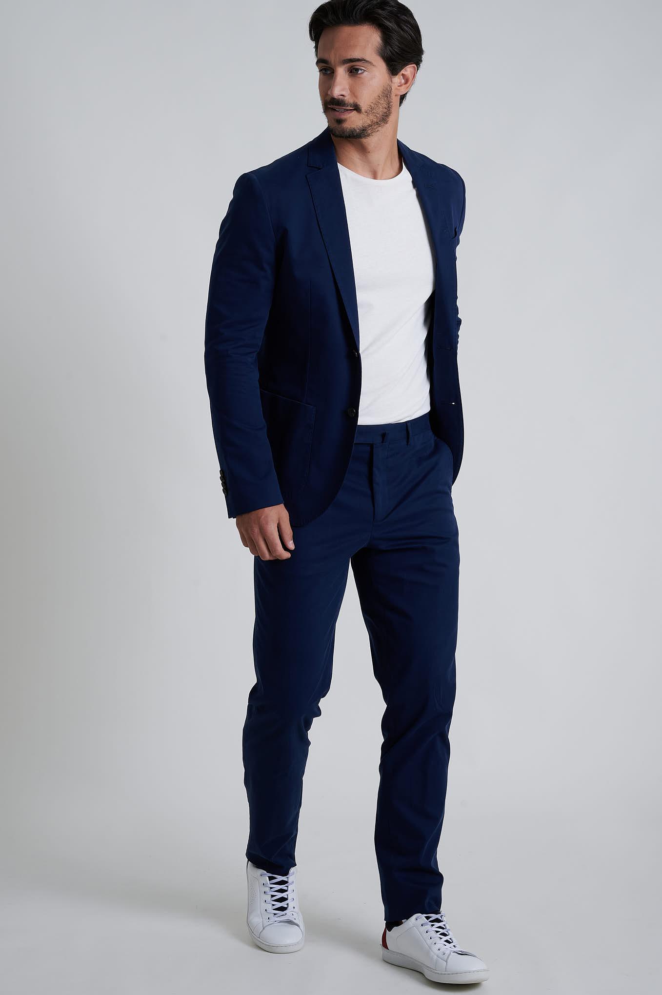 Suit Dark Blue Formal Man