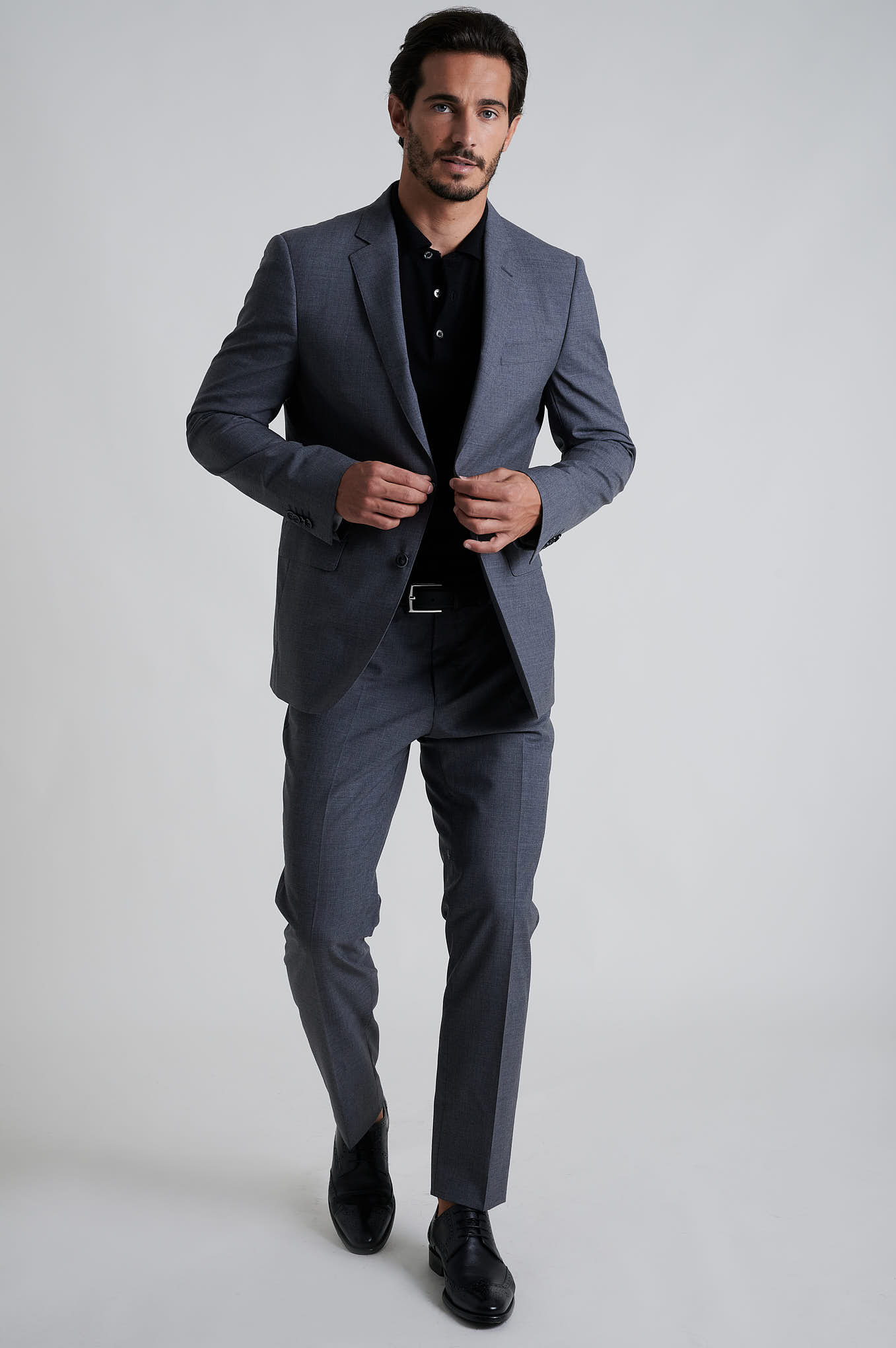 Suit Medium Grey Formal Man