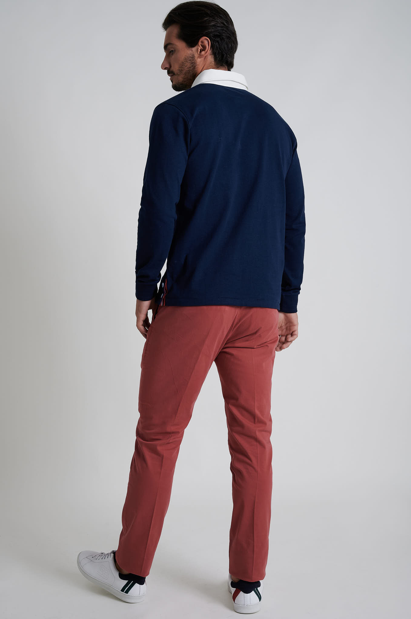 Chino Trousers Light Red Casual Man