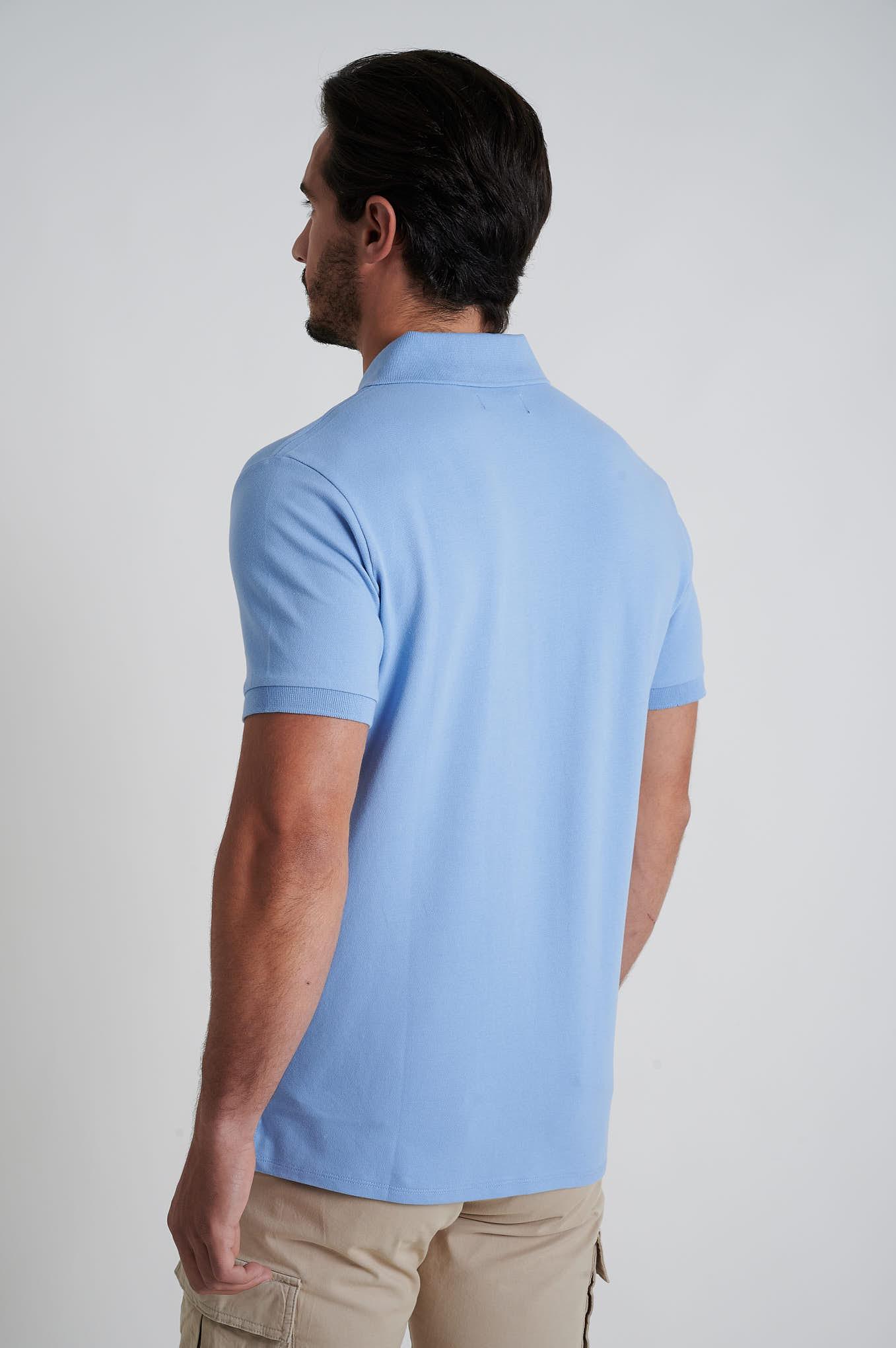 Polo Piquet Light Blue Sport Man