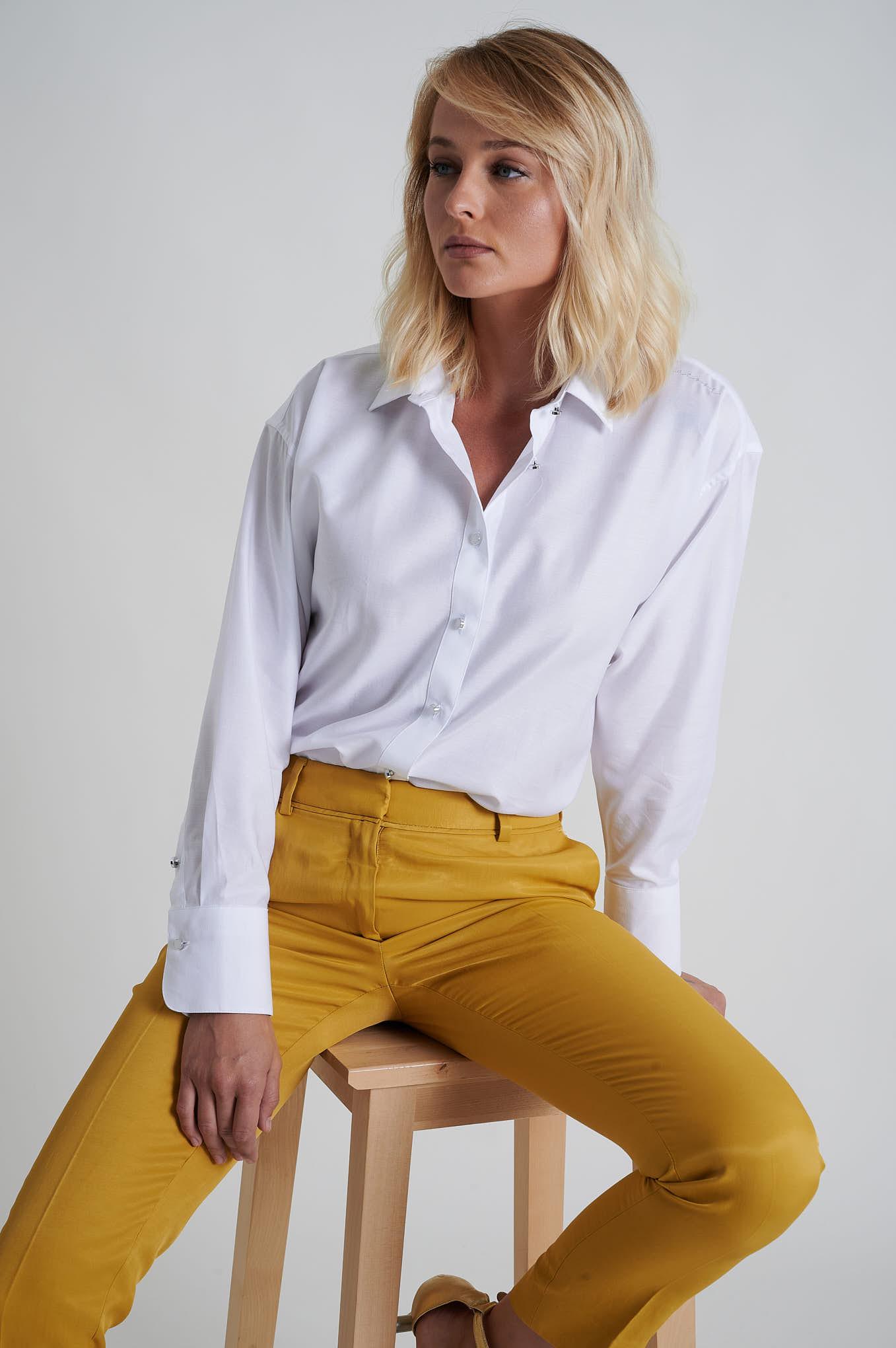Shirt White Casual Woman