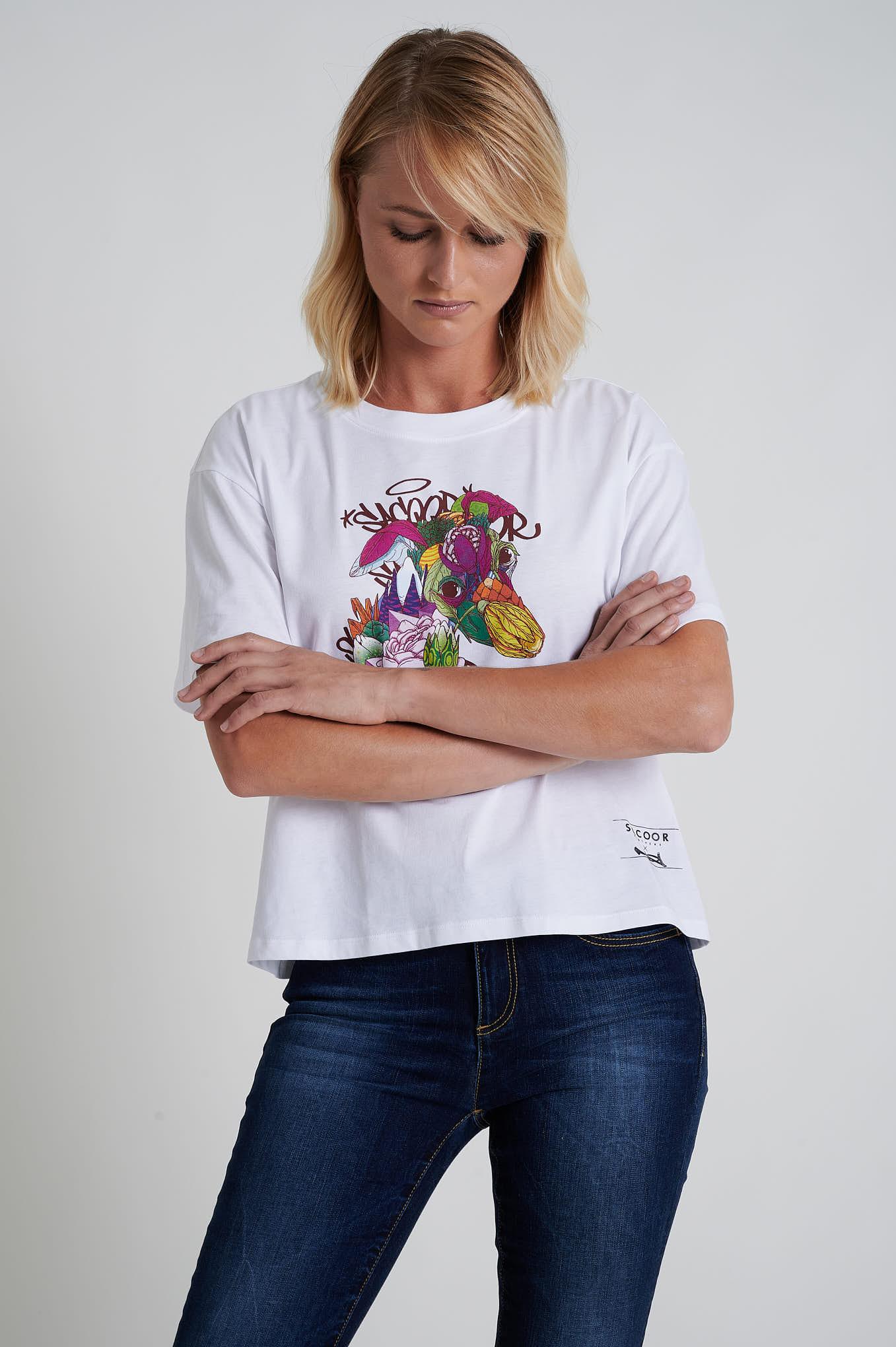 T-Shirt Branco Sport Mulher