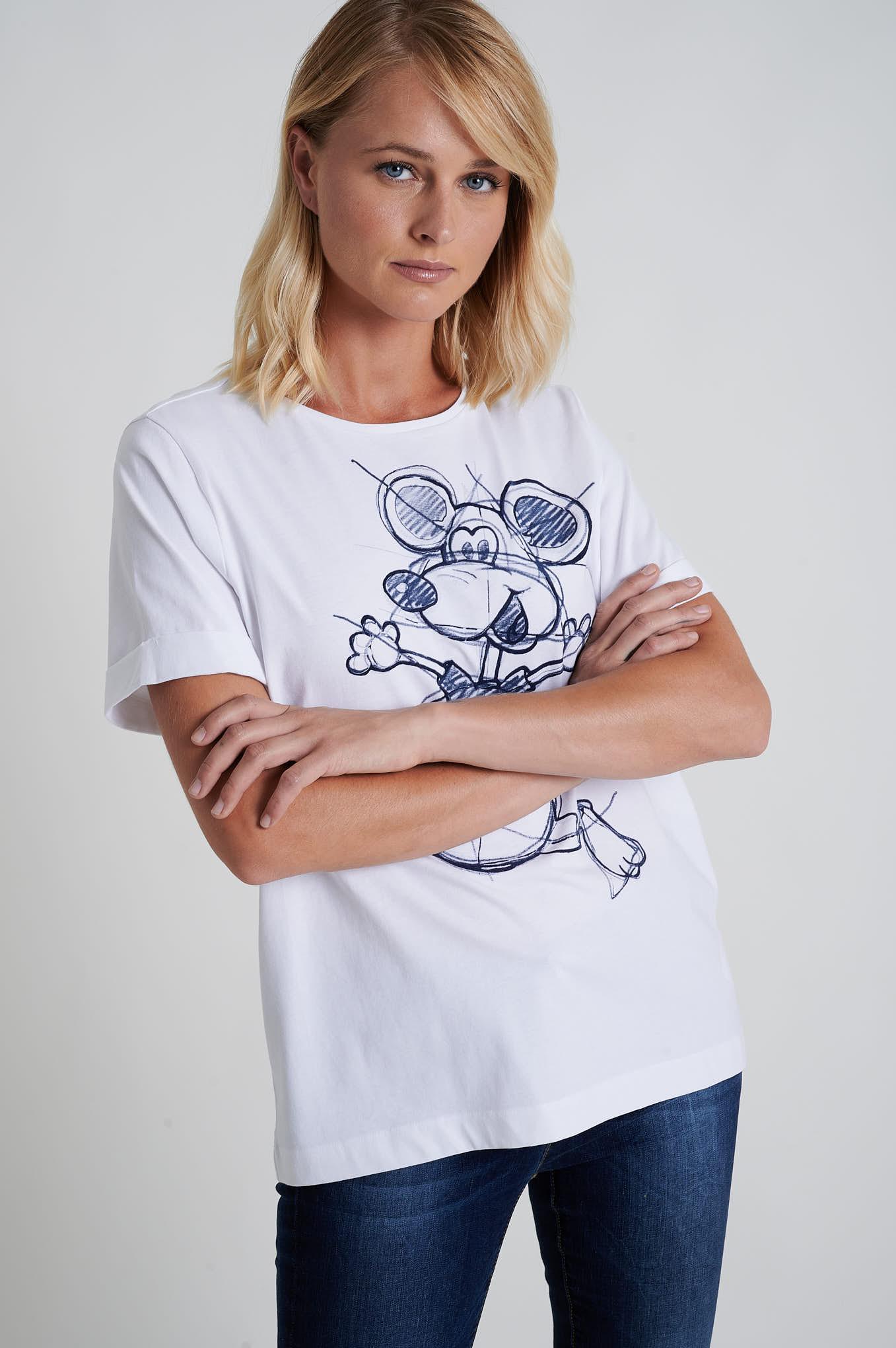 T-Shirt White Sport Woman