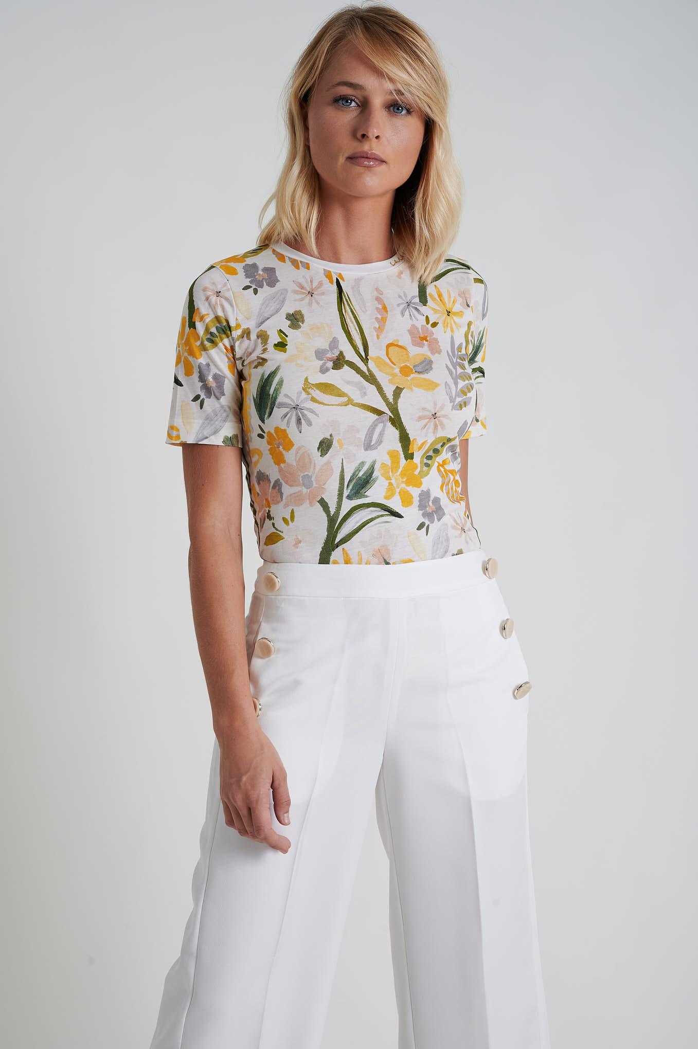 T-Shirt Estampado Sport Mulher