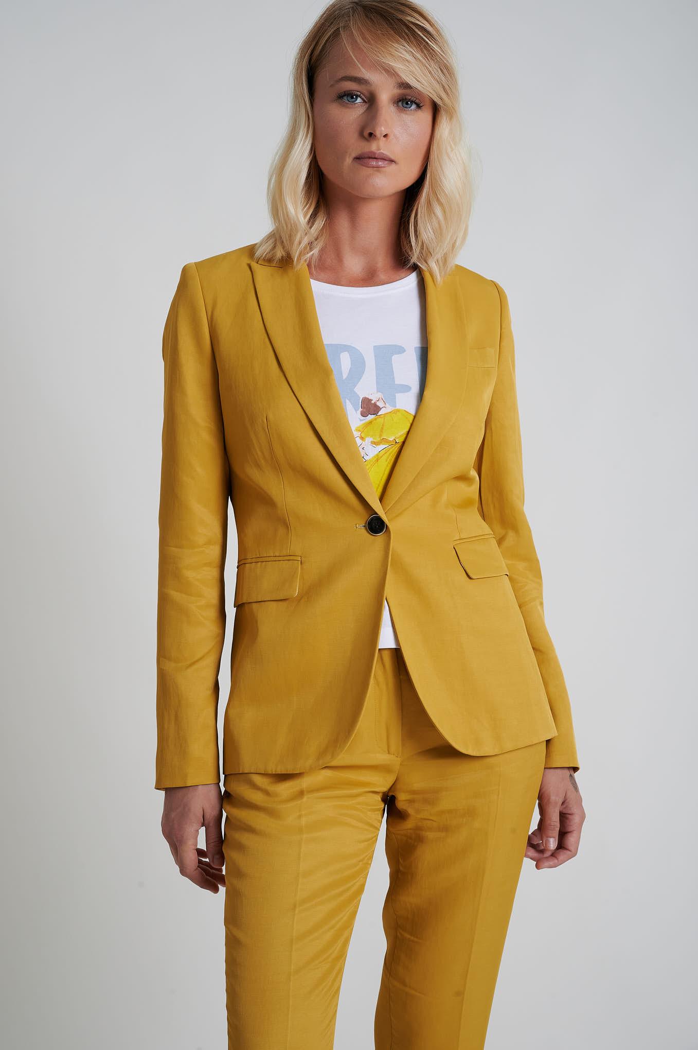 Blazer Amarelo Formal Mulher