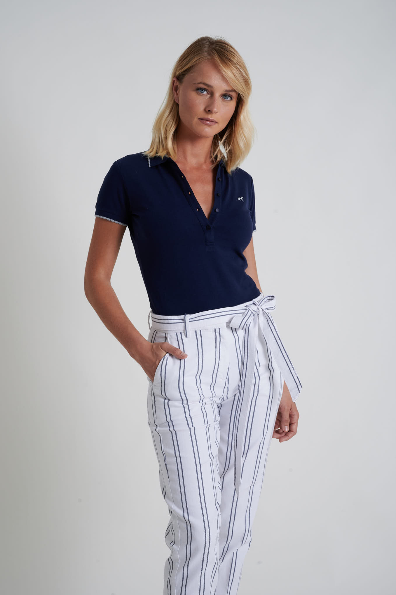 Chino Trousers White Casual Woman