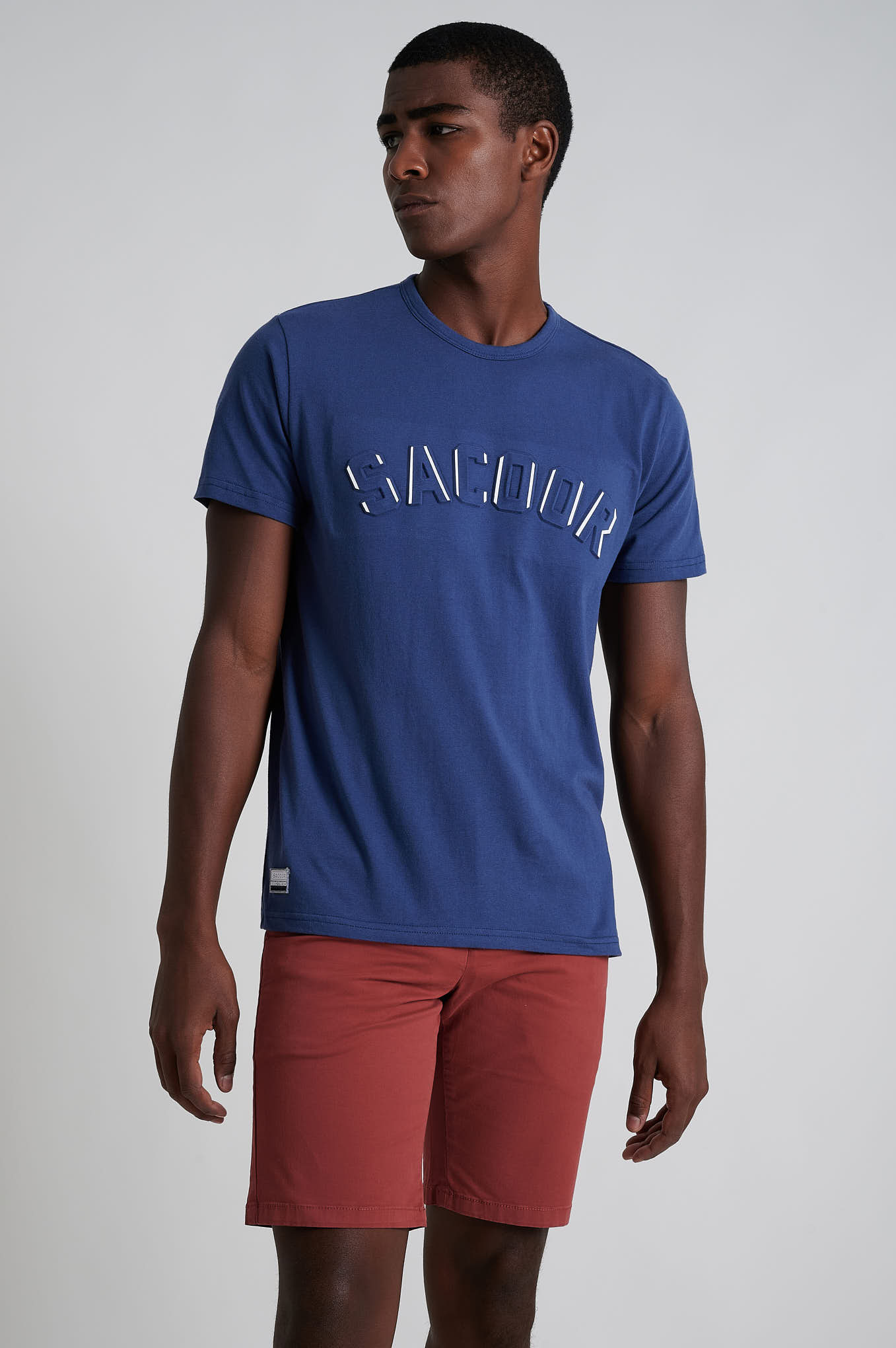Bermuda Light Red Casual Man