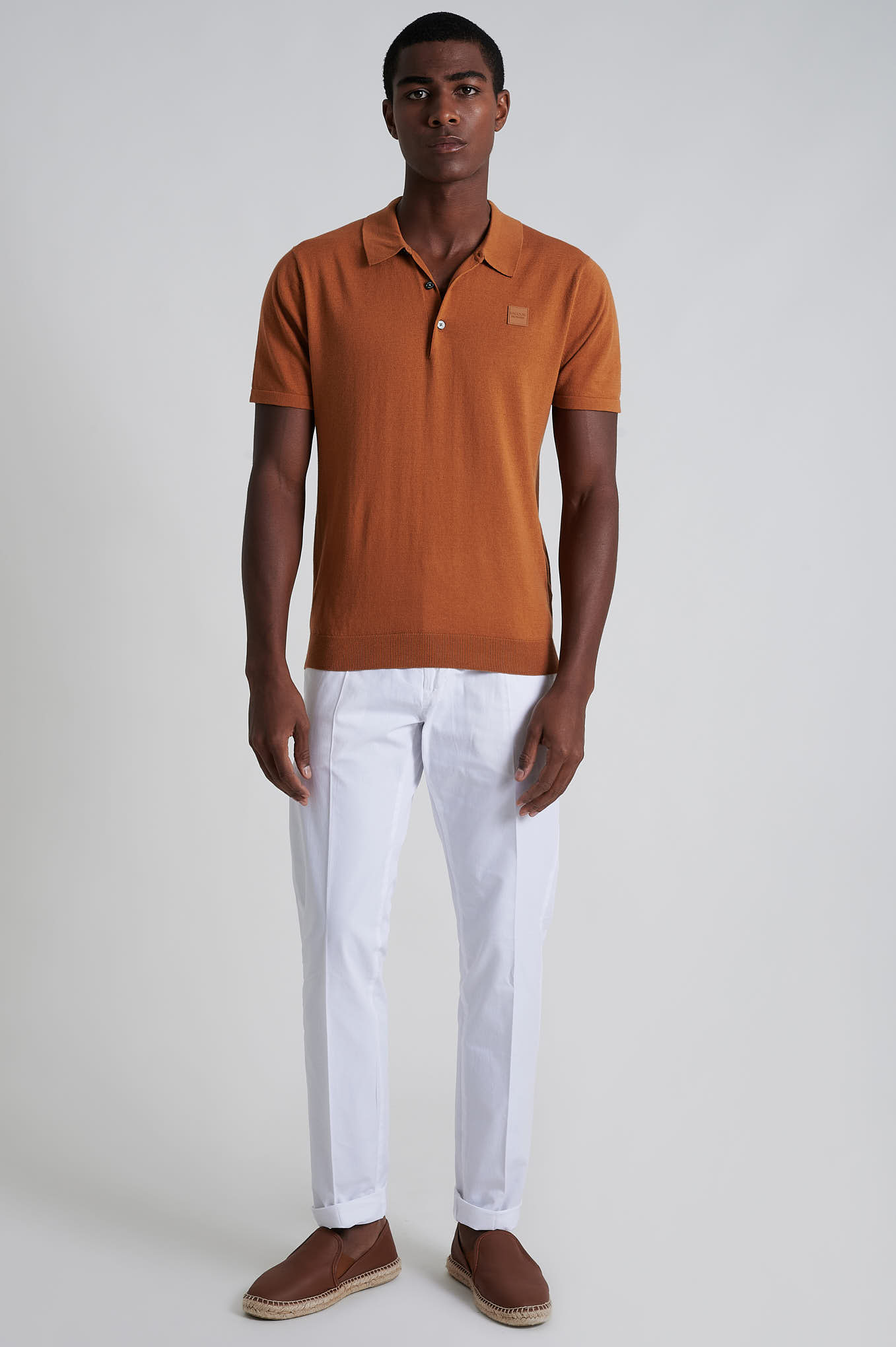 Calças Chino Branco Casual Homem