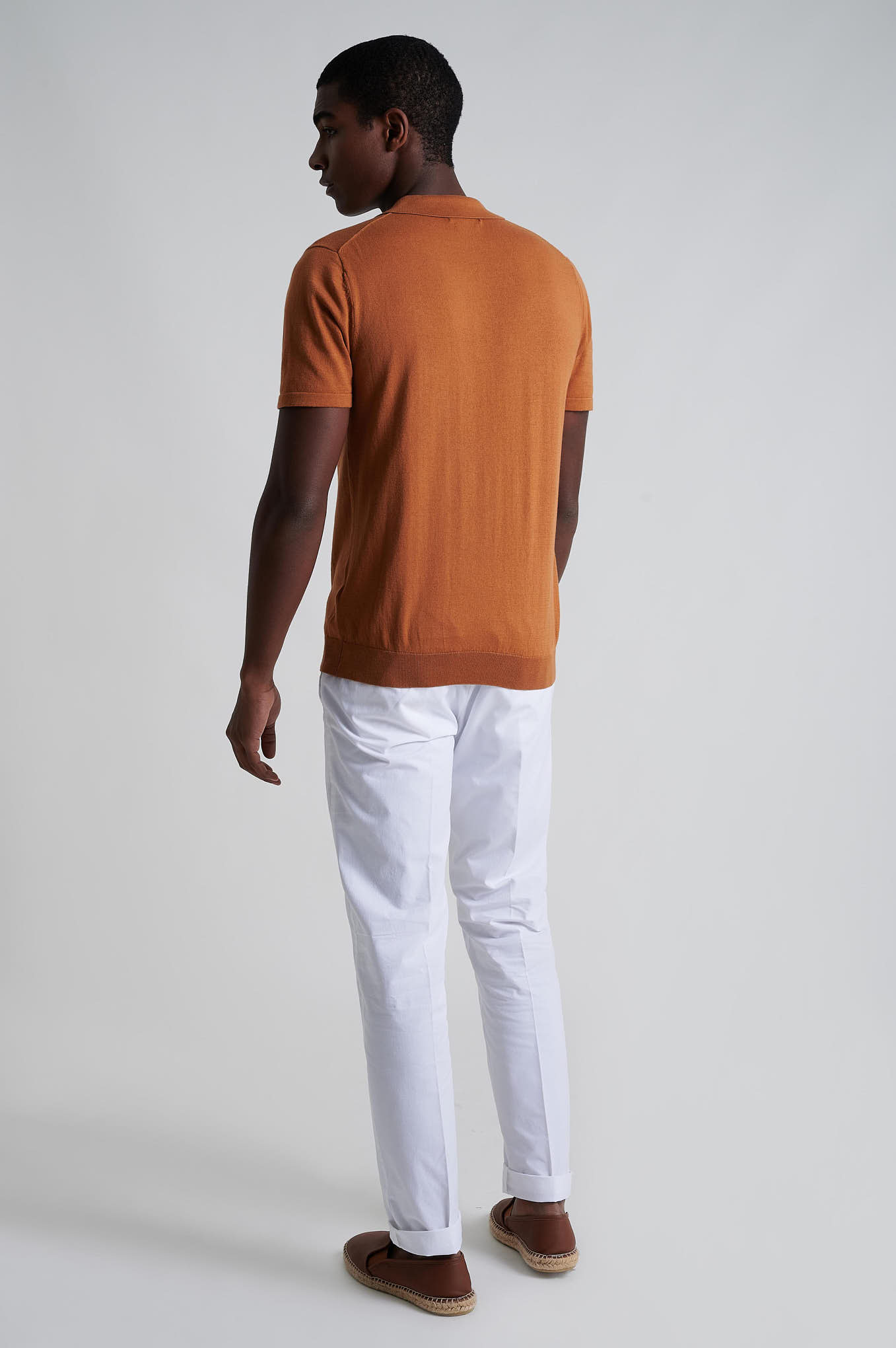 Chino Trousers White Casual Man