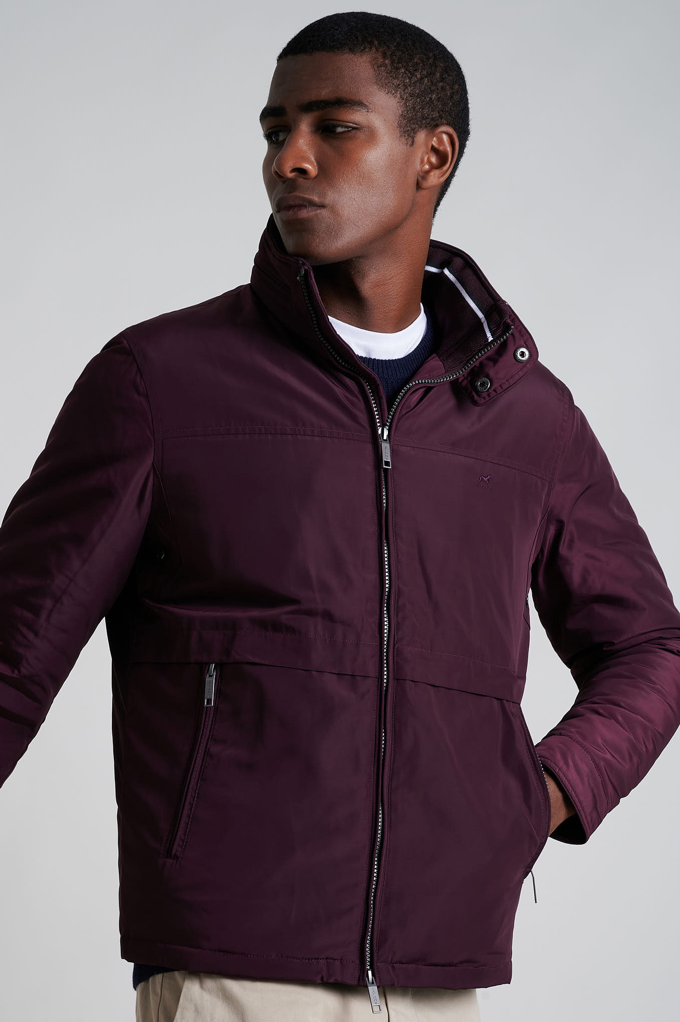 Jacket Bordeaux Casual Man