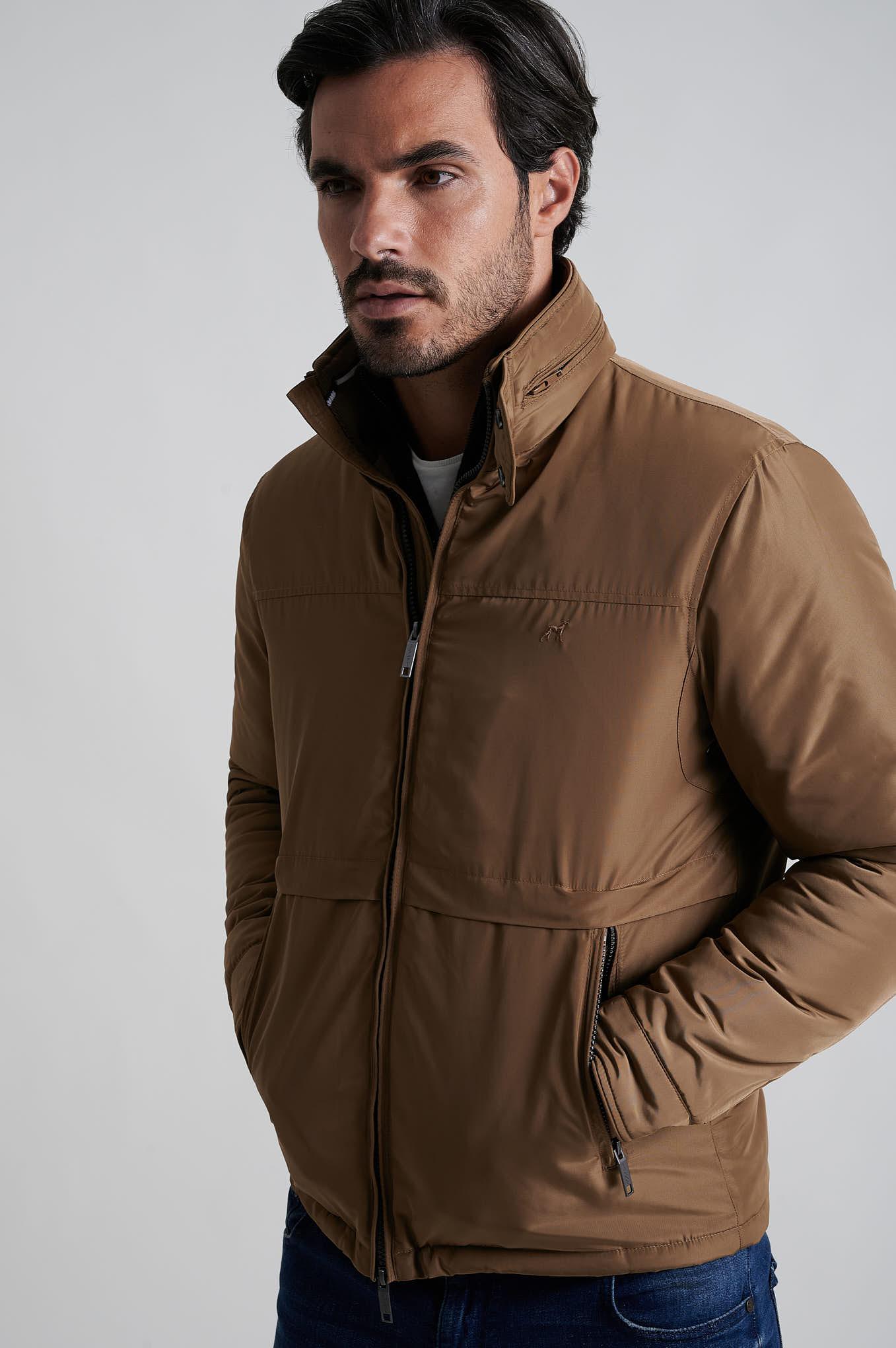 Jacket Dark Beige Casual Man