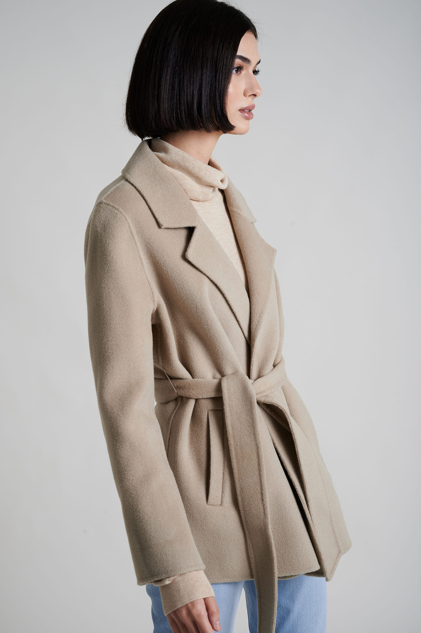 Coat Sand Casual Woman