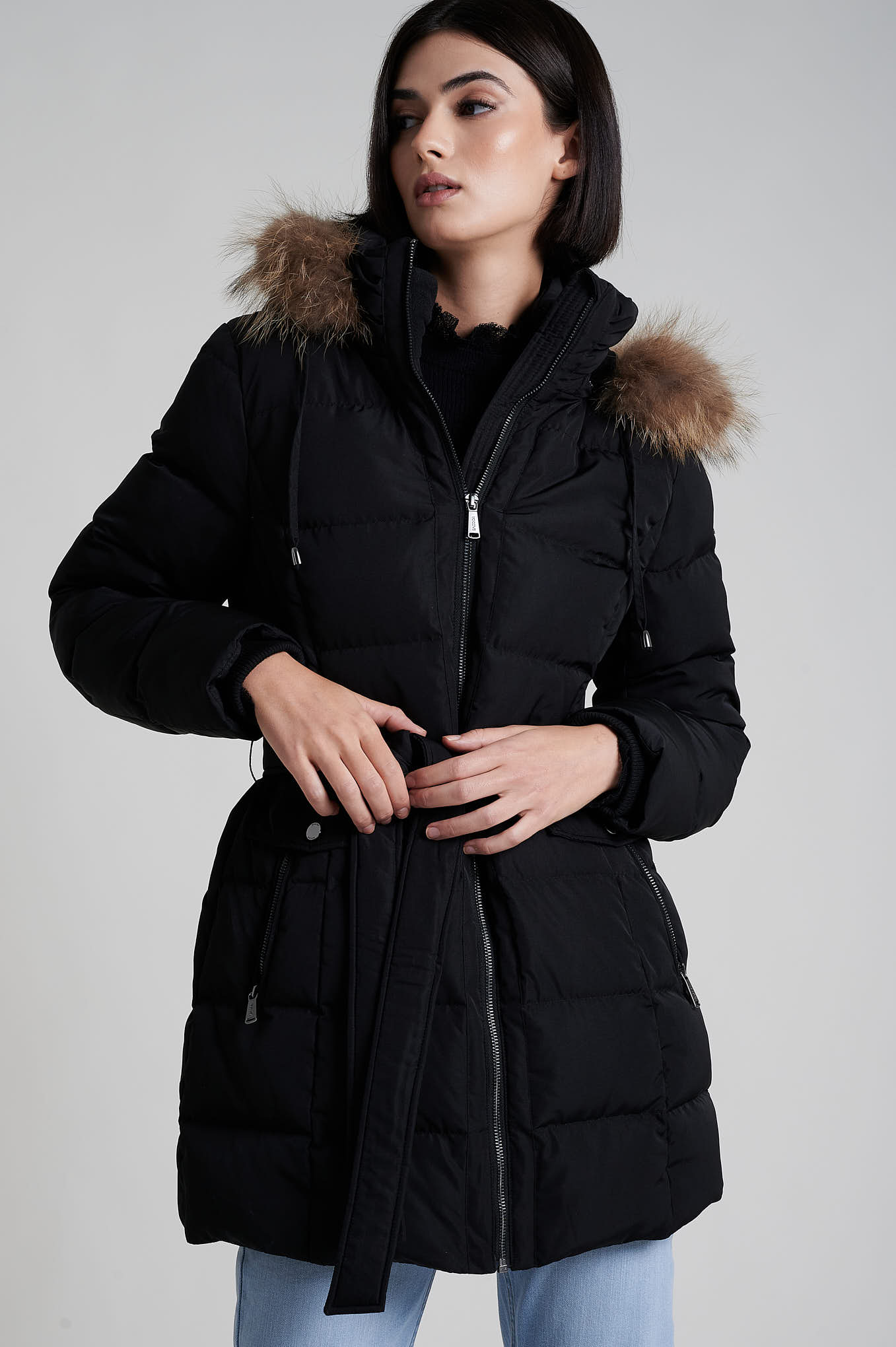 Parka Black Casual Woman