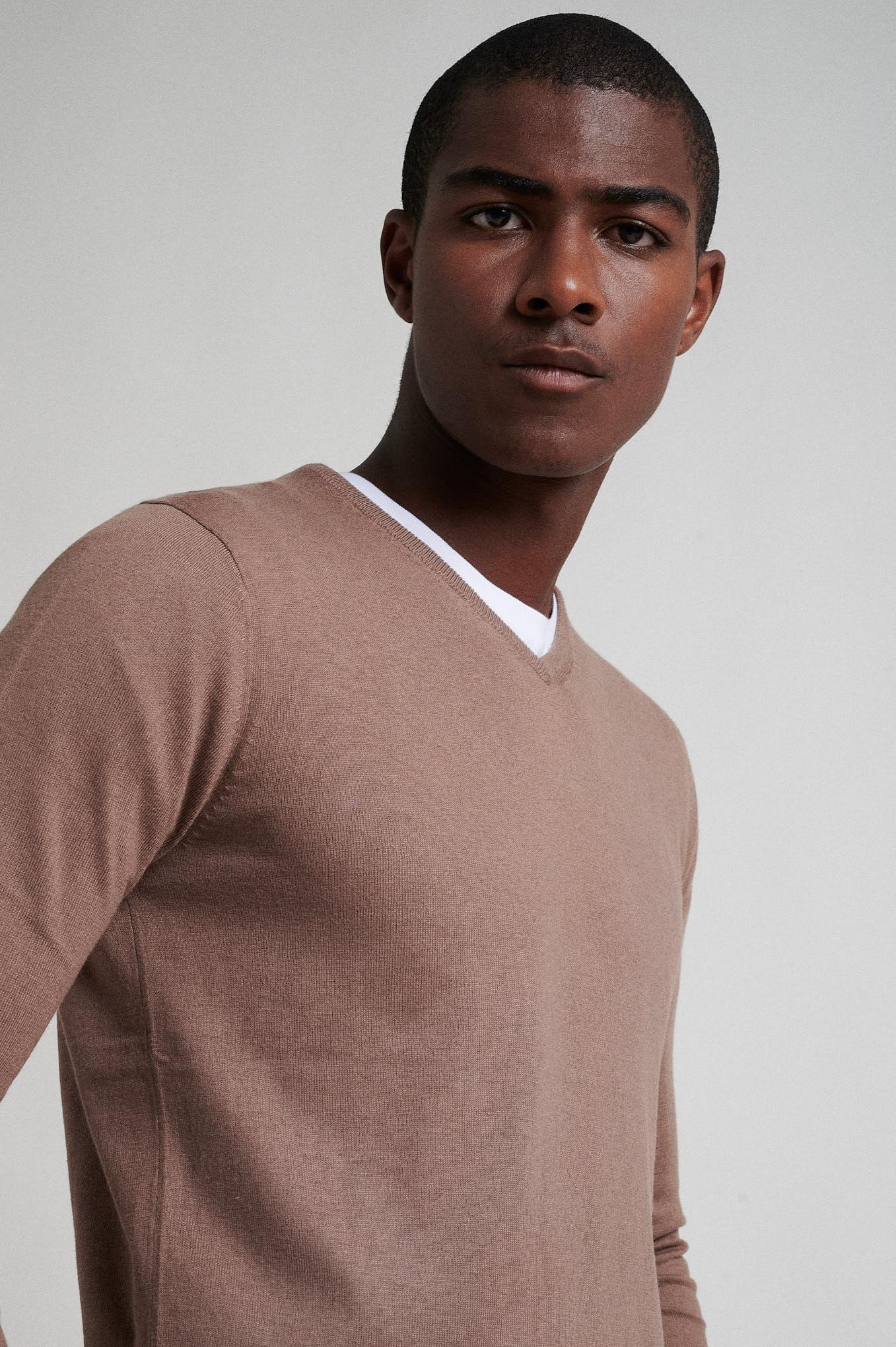 Sweater Brown Casual Man