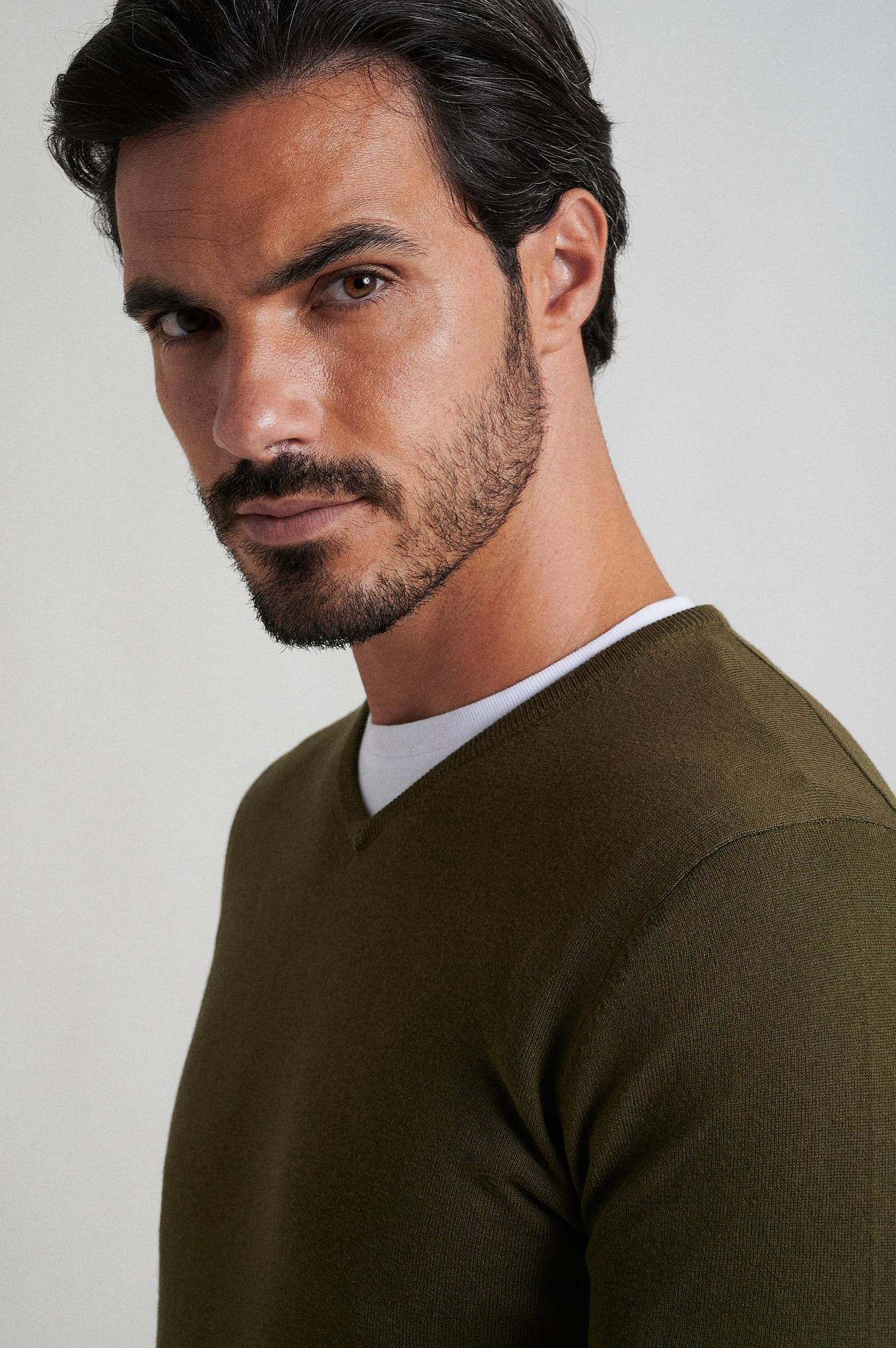 Sweater Khaki Casual Man