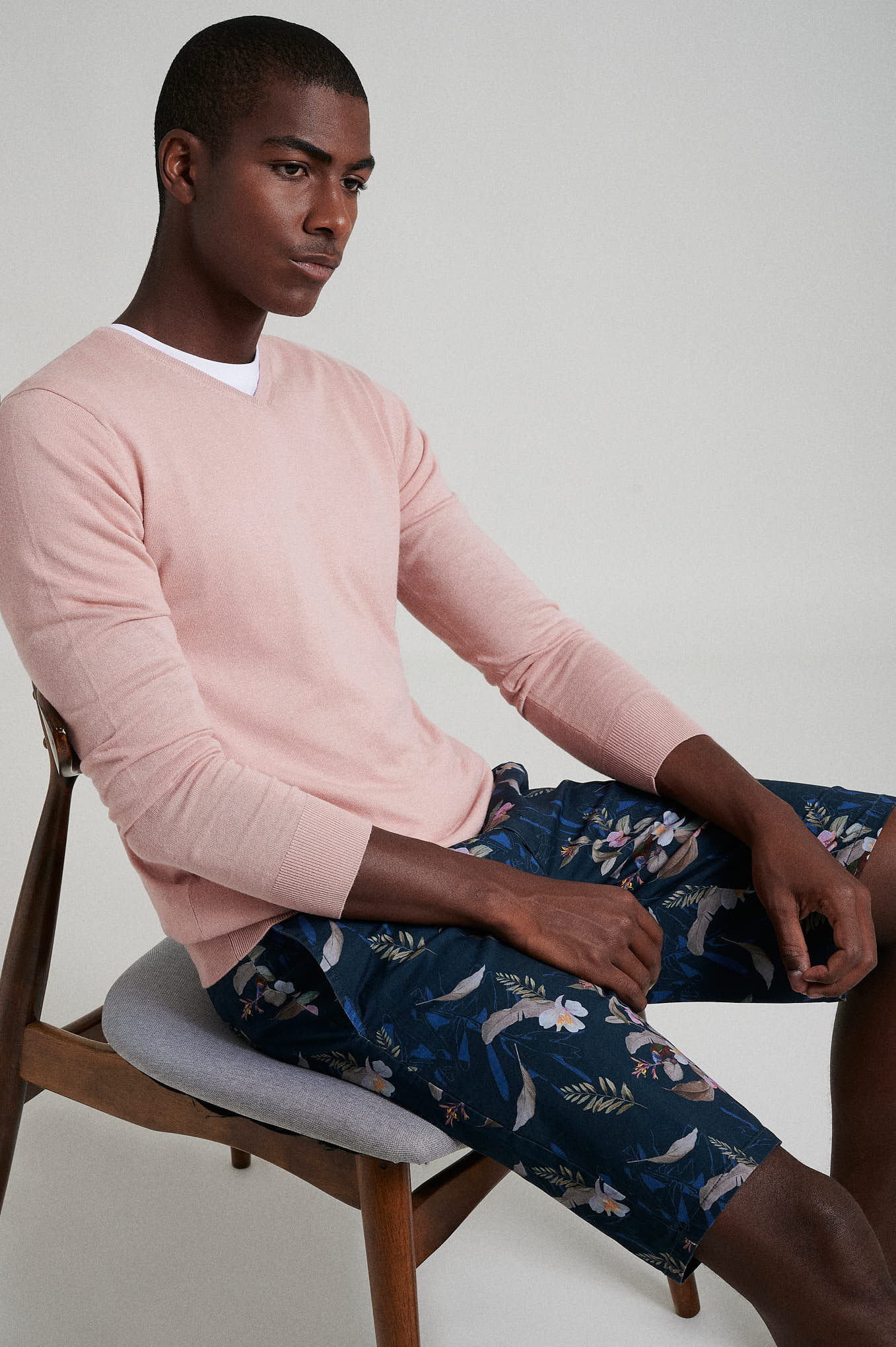 Sweater Pale Pink Casual Man