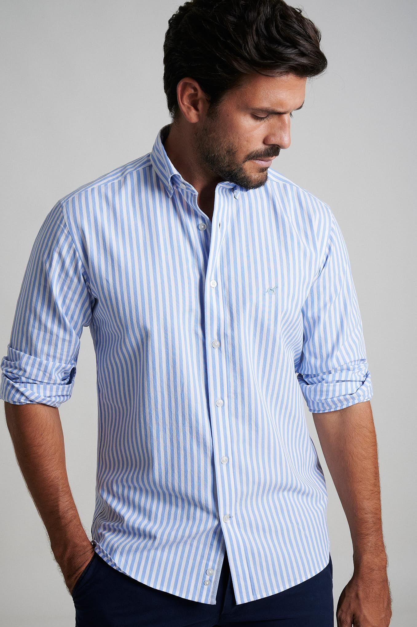 Shirt Light Blue Sport Man
