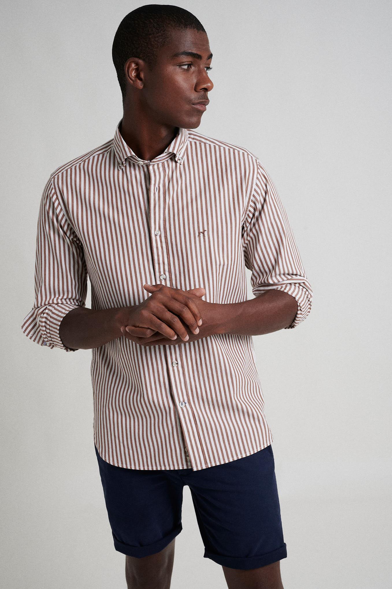Shirt Brown Sport Man