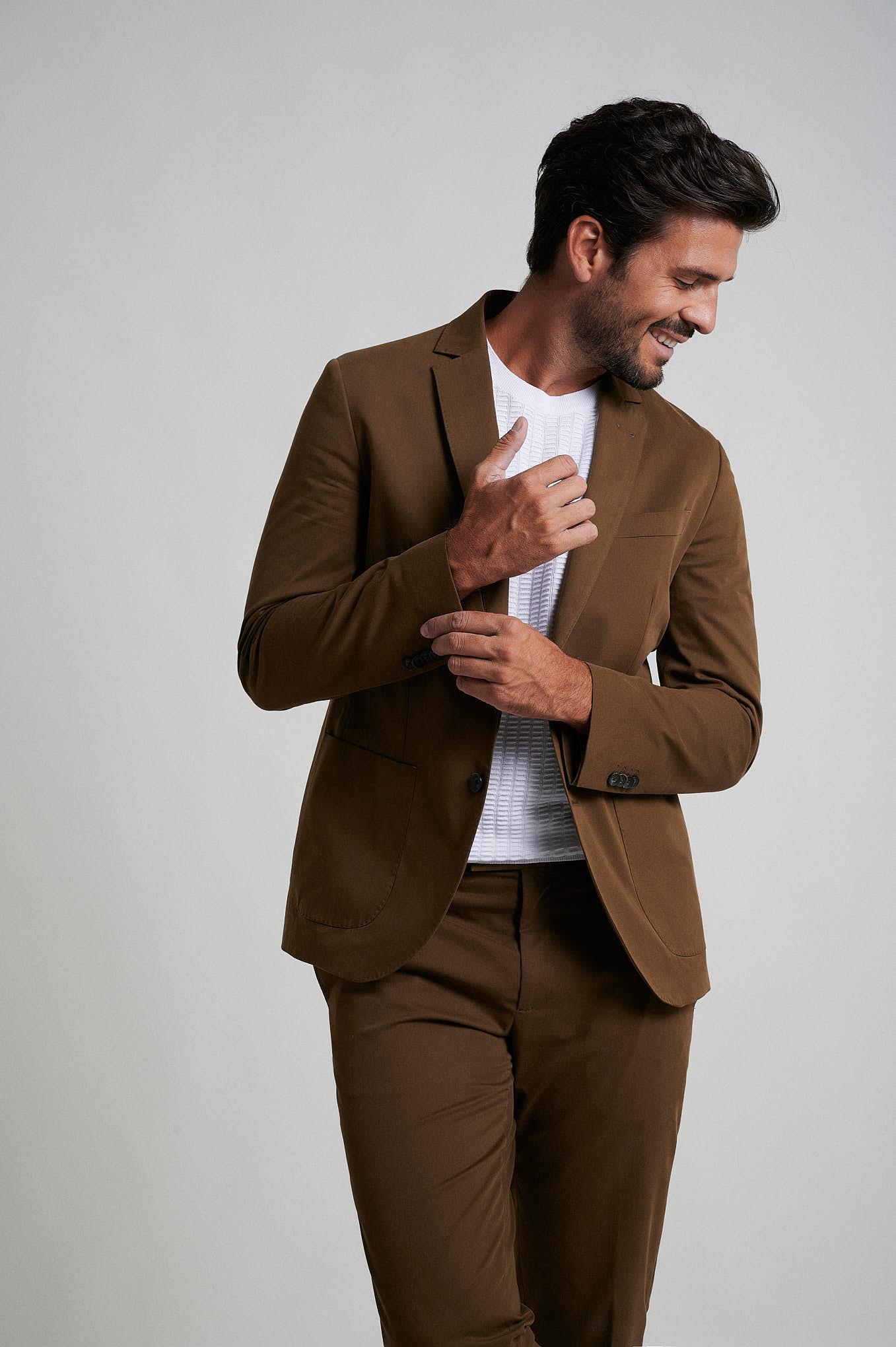 Suit Caramel Formal Man