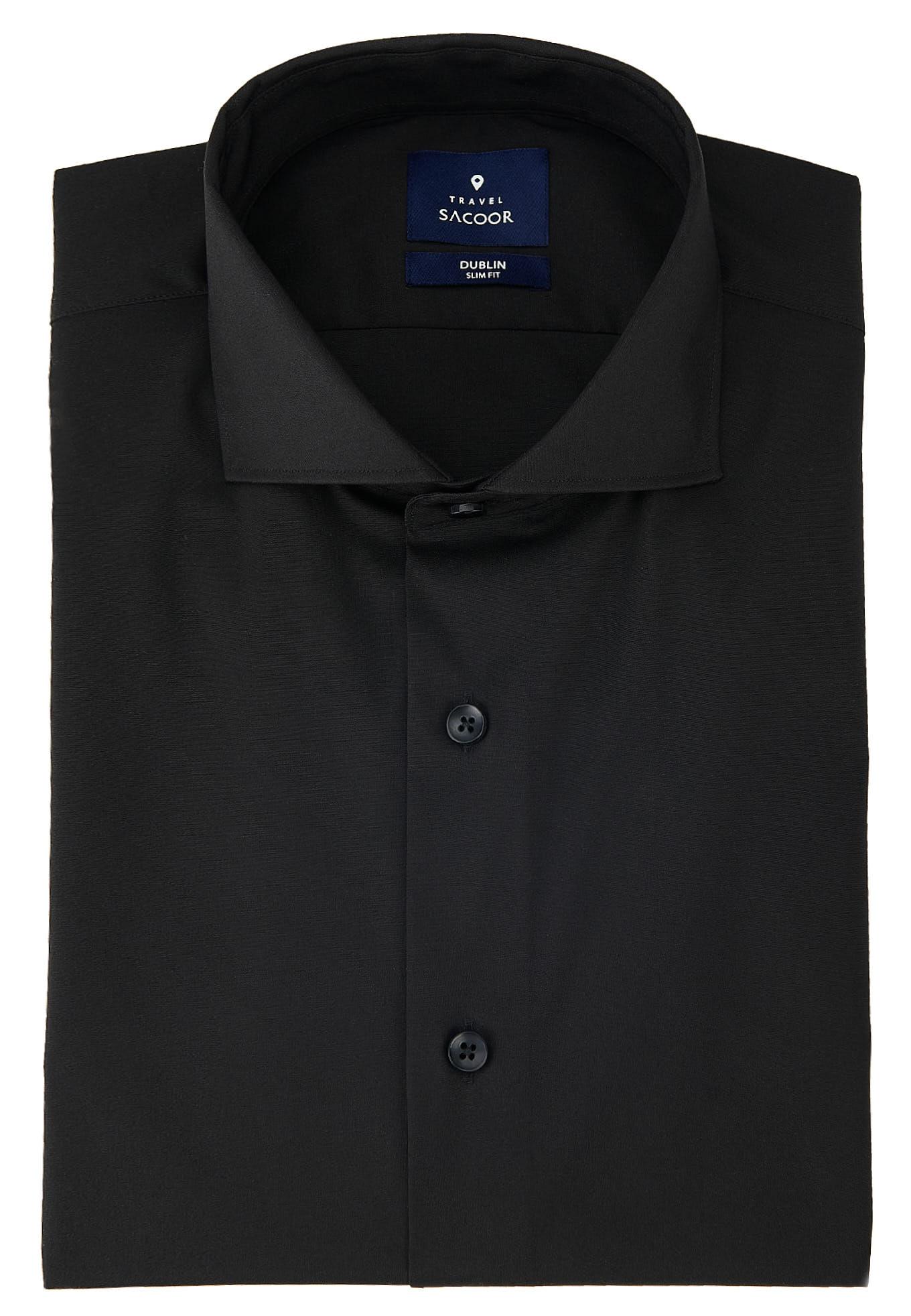 Shirt Black Formal Man