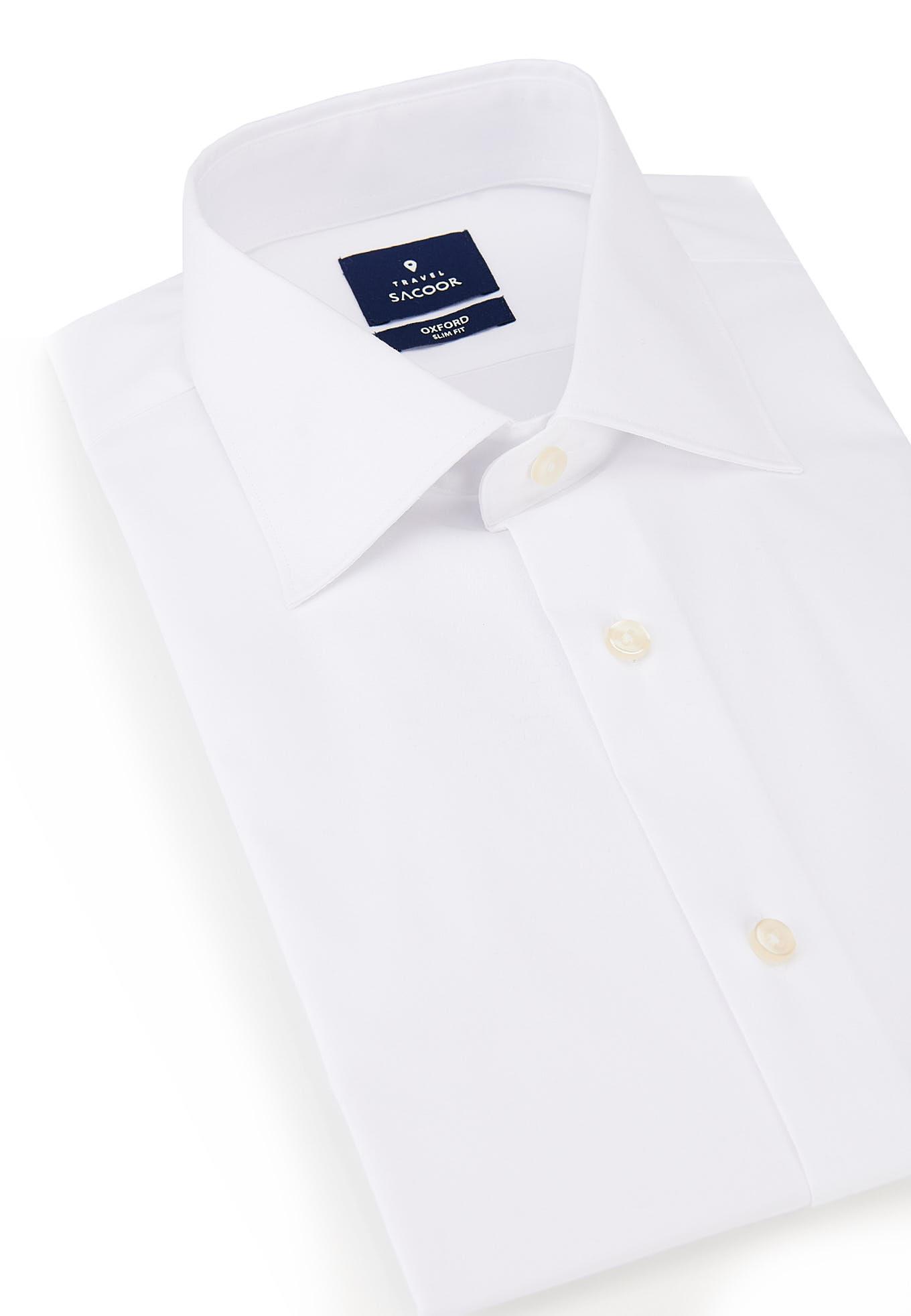 Camisa Branco Formal Homem
