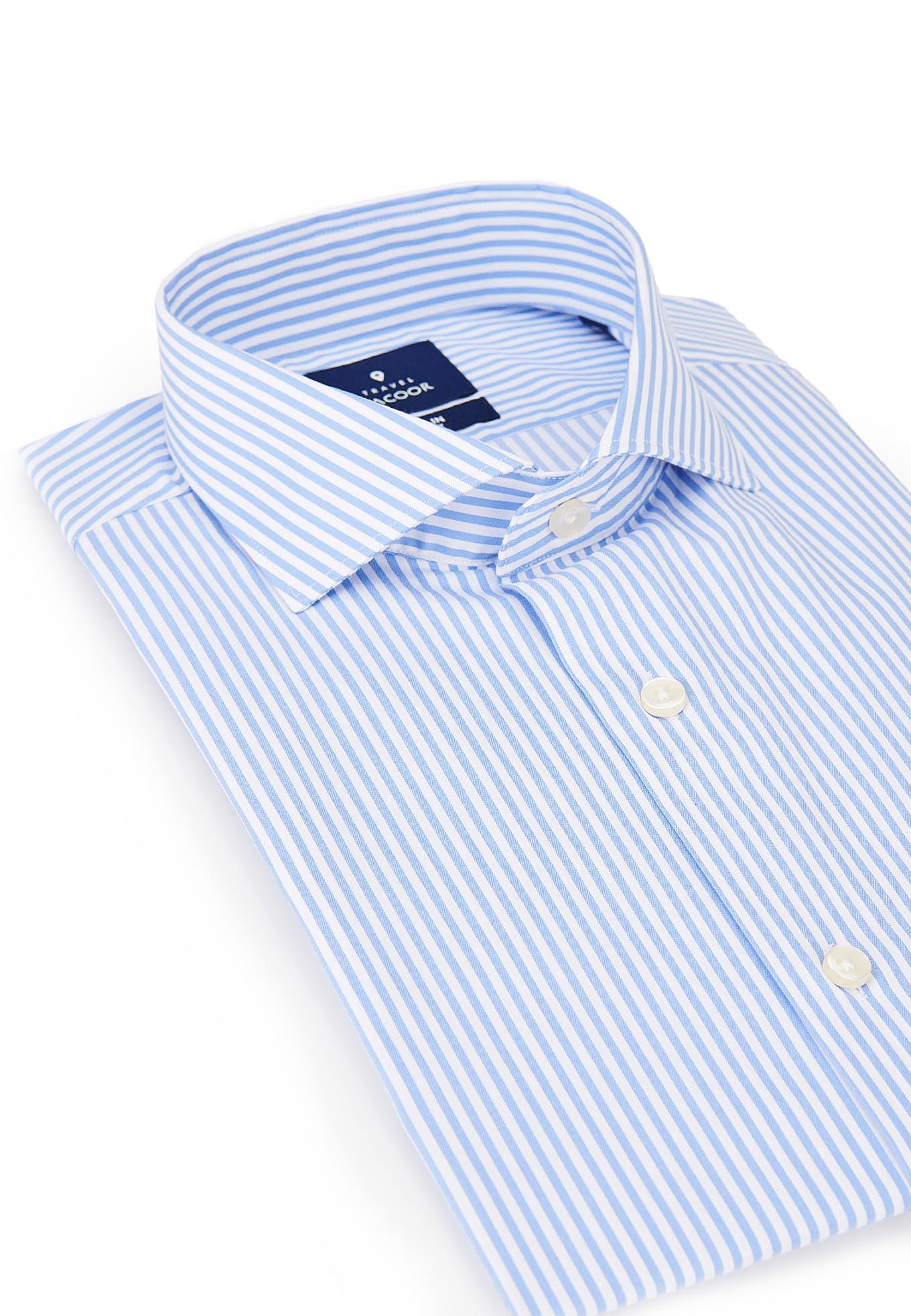 Camisa Azul Claro Formal Homem