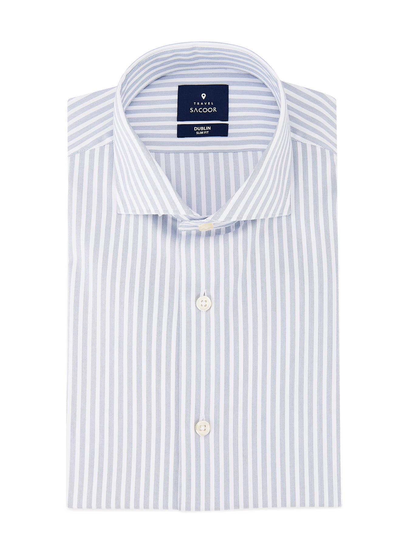 Shirt Medium Blue Formal Man