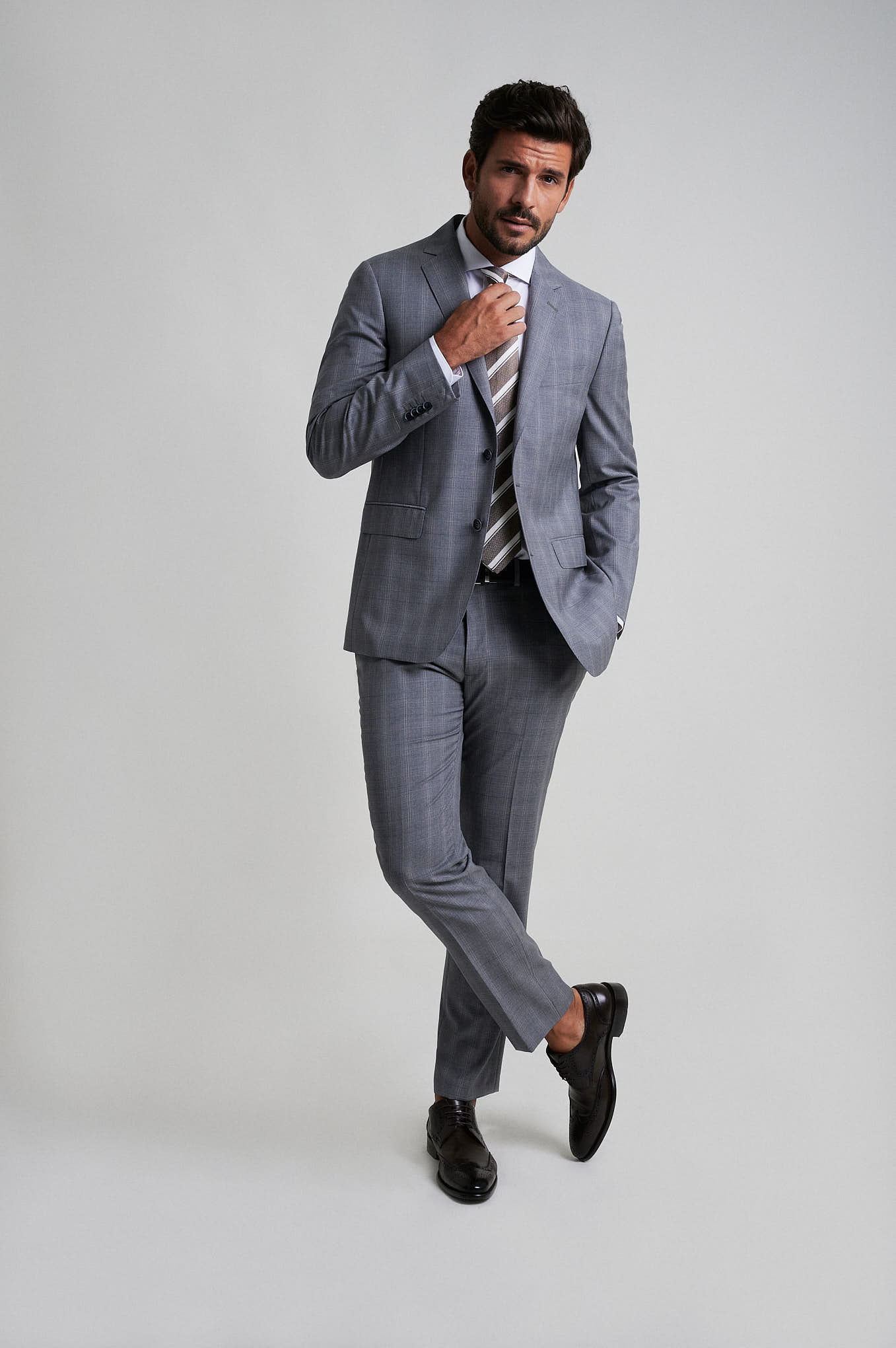 Suit Light Grey Formal Man