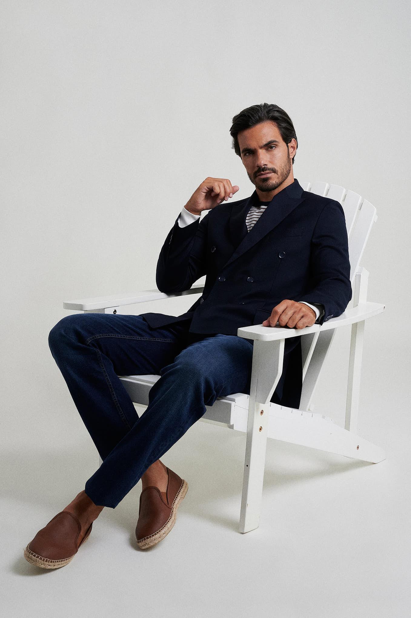 Blazer Dark Blue Formal Man