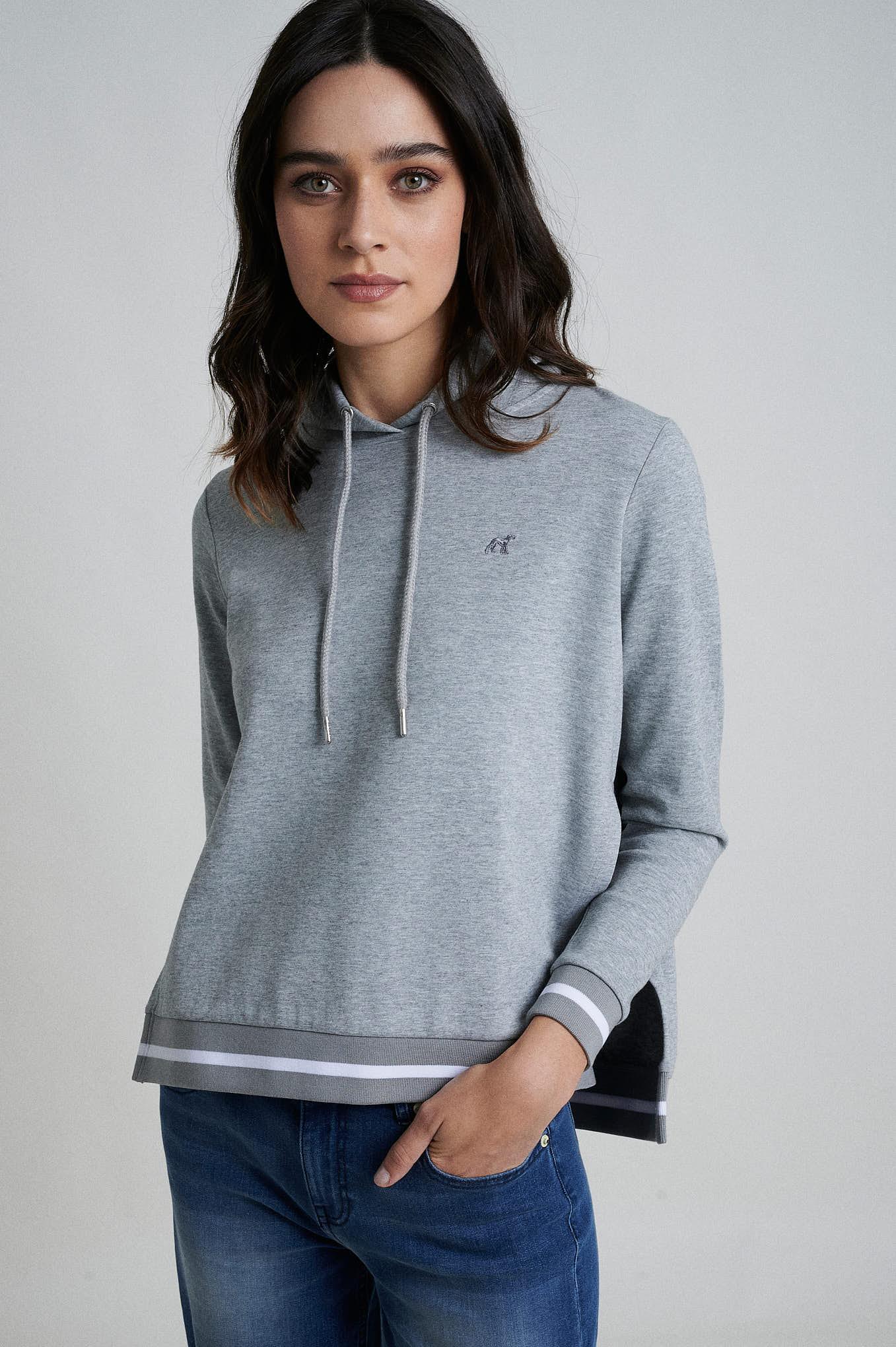 Sweatshirt Mix Grey Sport Woman