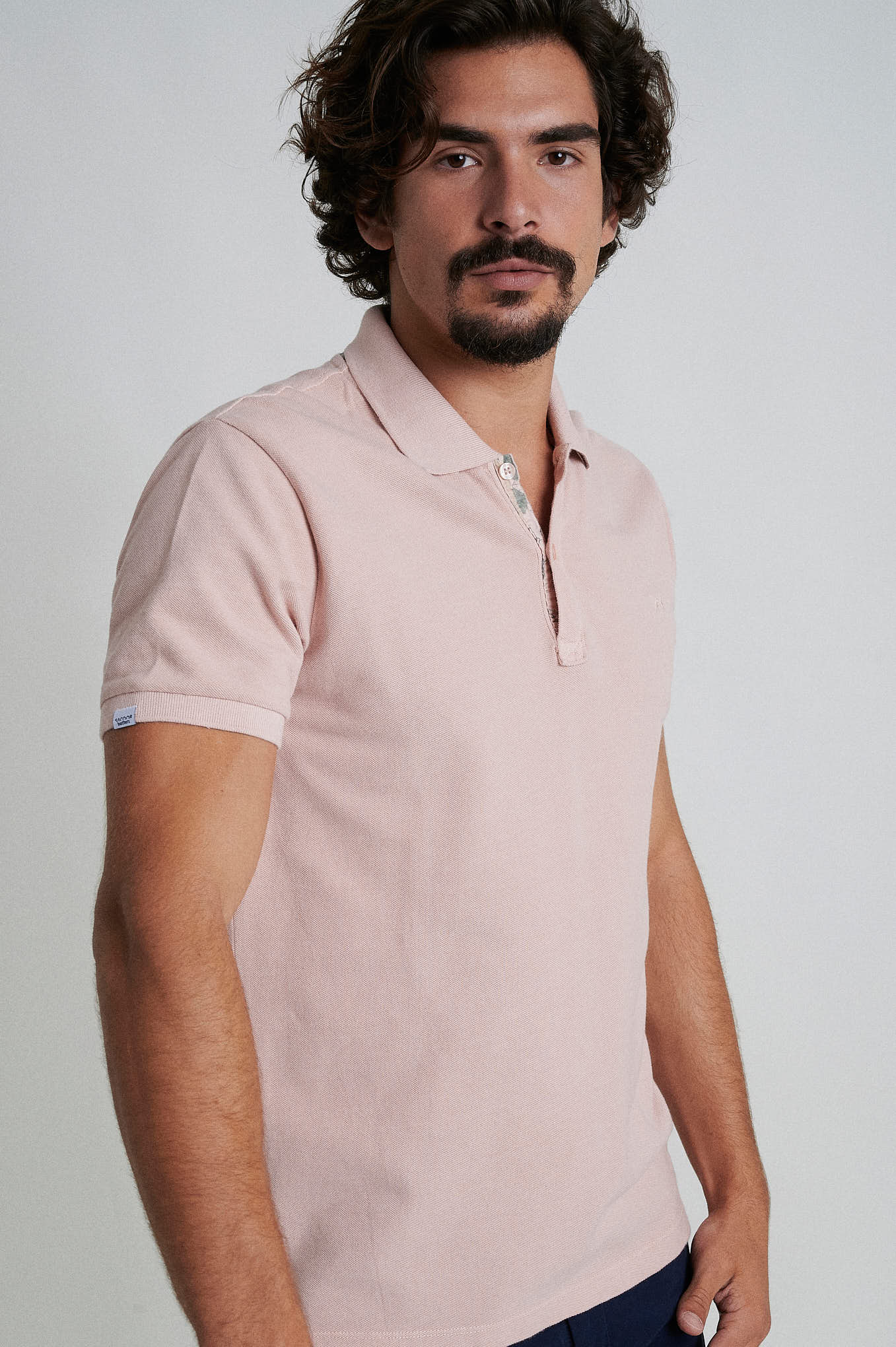 Polo Piquet Pale Pink Sport Man