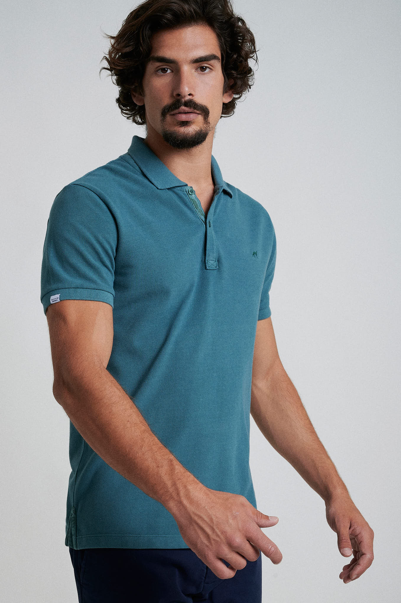 Polo Piquet Teal Sport Man