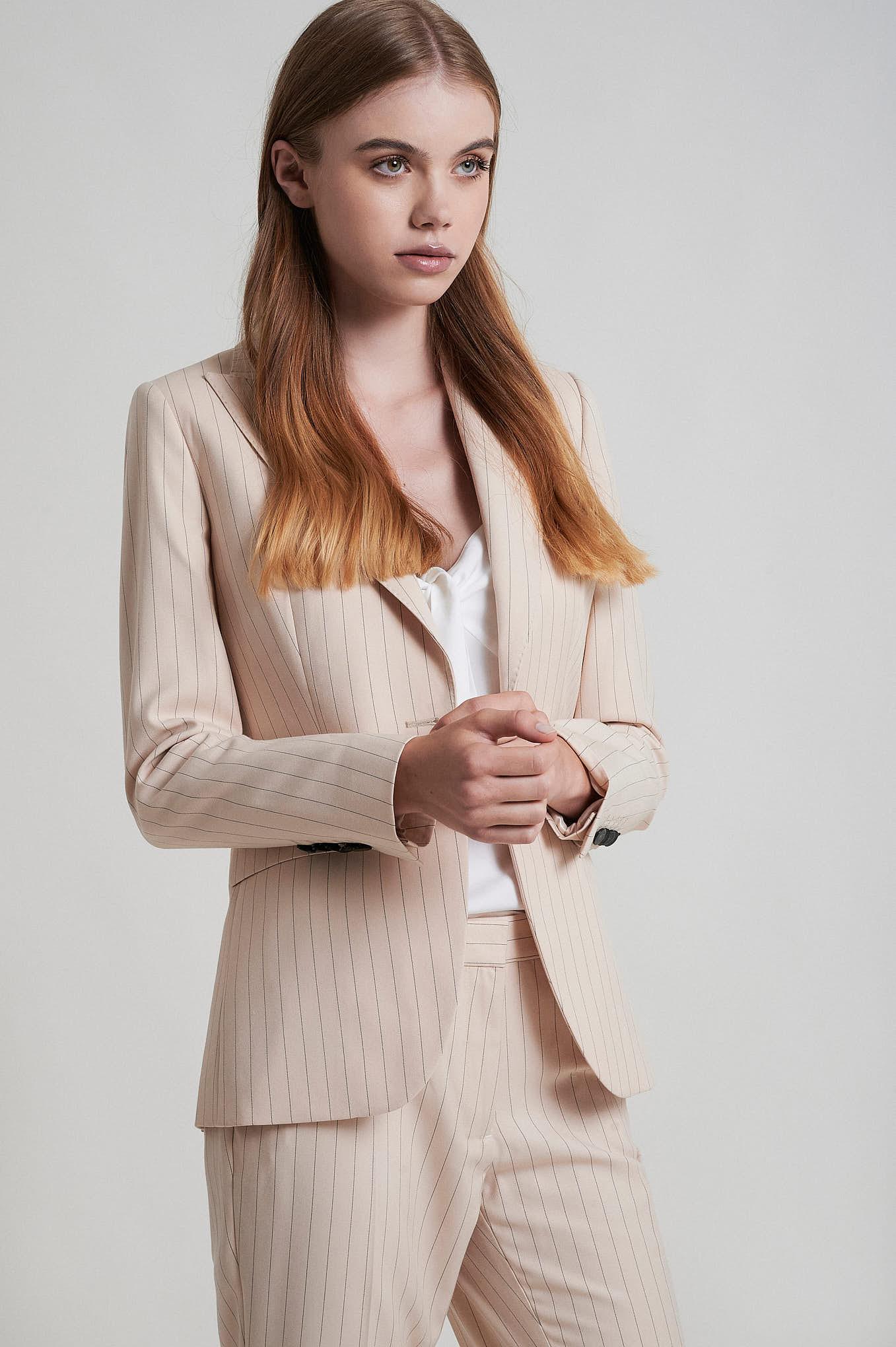 Suit Light Beige Formal Woman