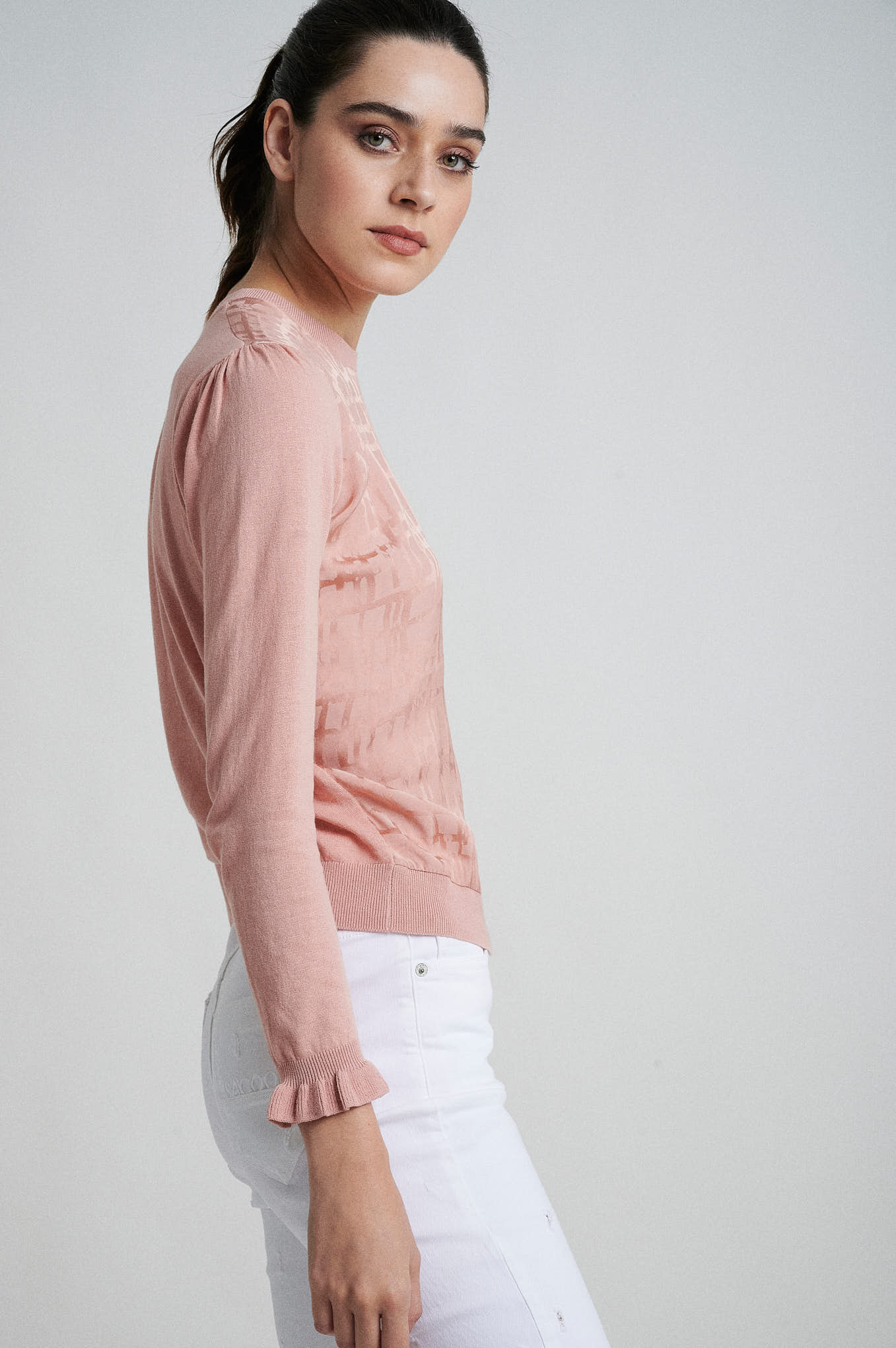 Sweater Pink Casual Woman