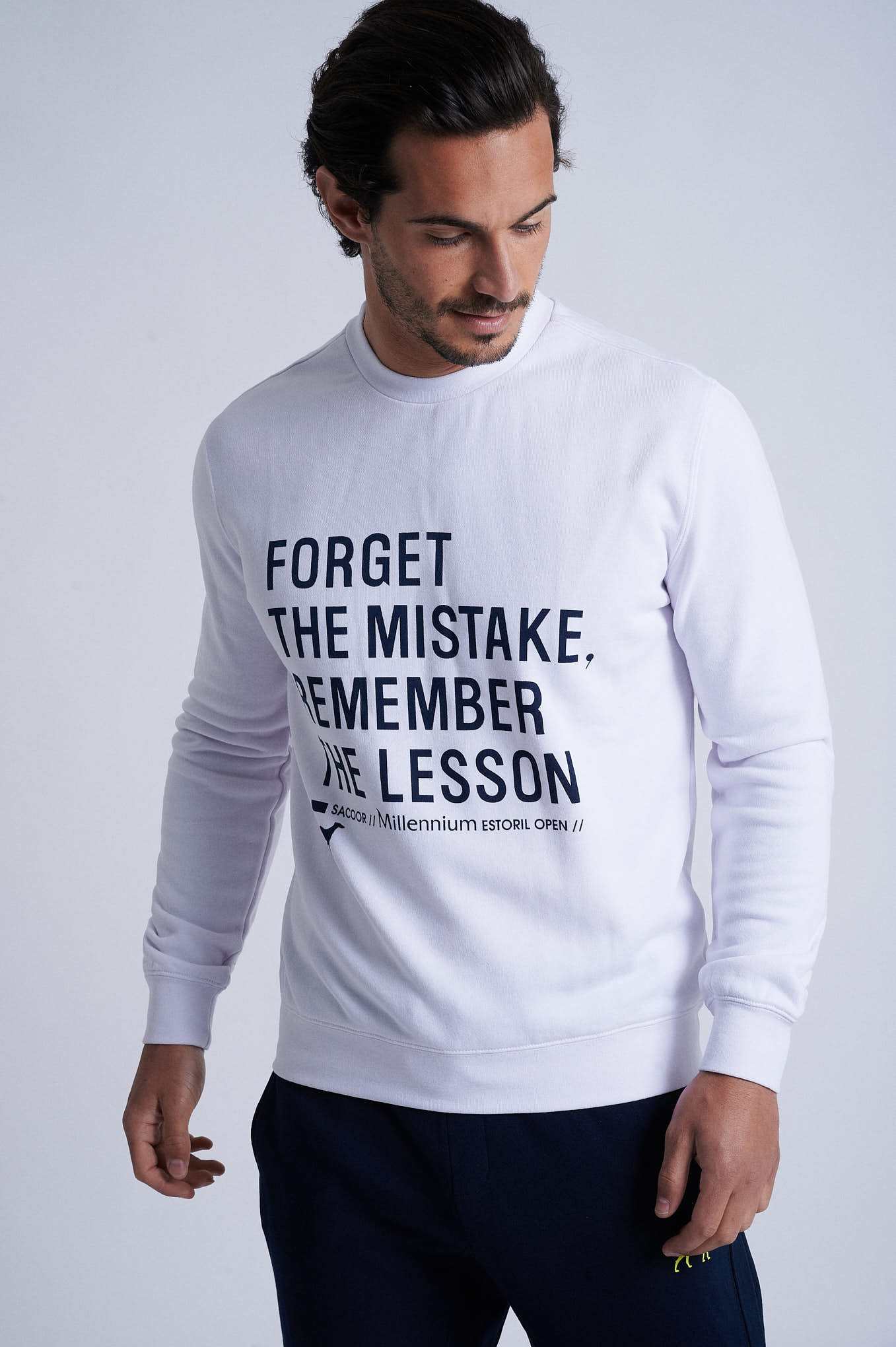 Sweatshirt White Sport Man