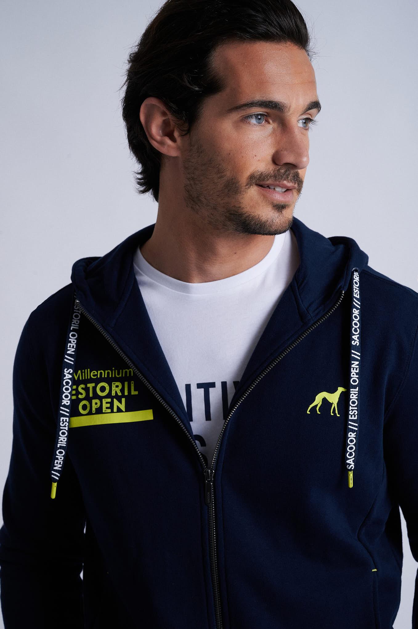 Sweatshirt Dark Blue Sport Man