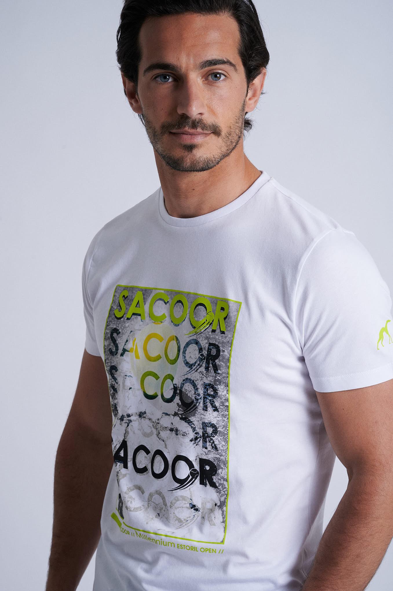 T-Shirt White Sport Man