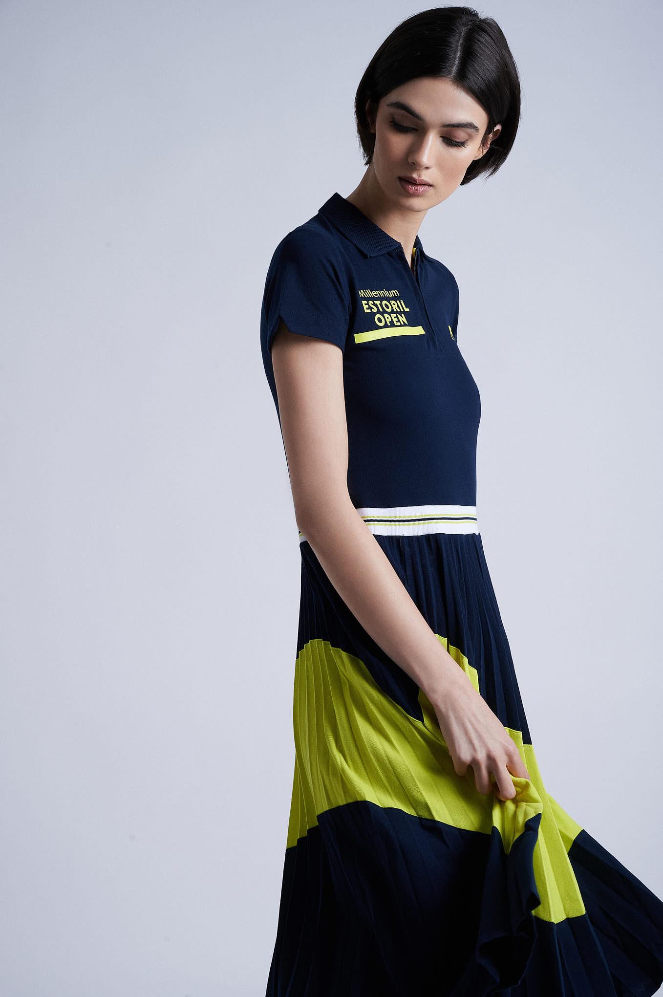 Dress Piquet Dark Blue Sport Woman