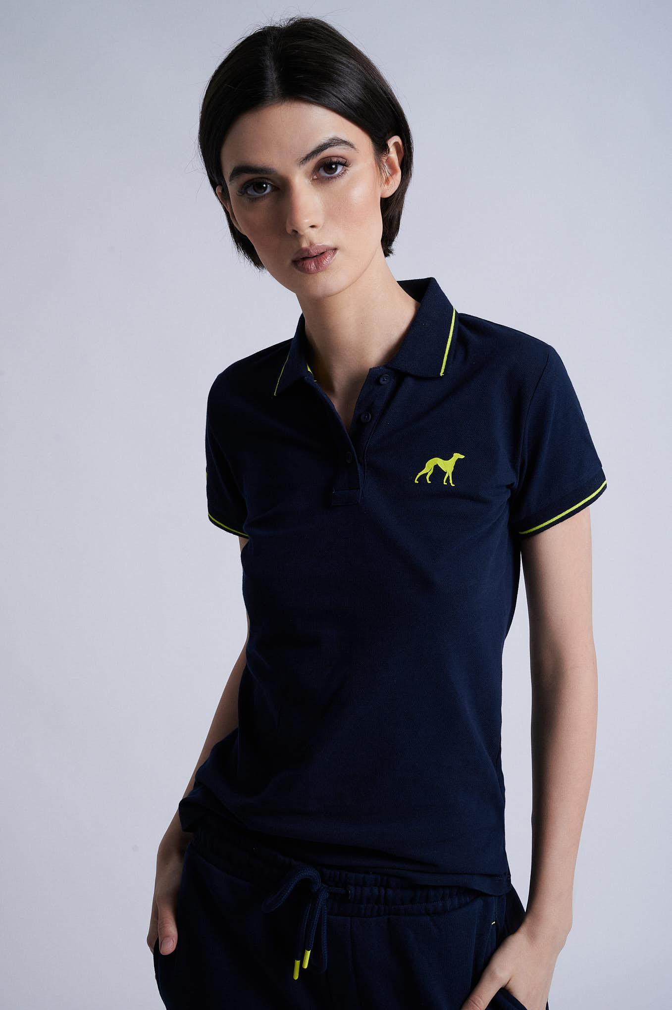 Polo Piquet Dark Blue Sport Woman